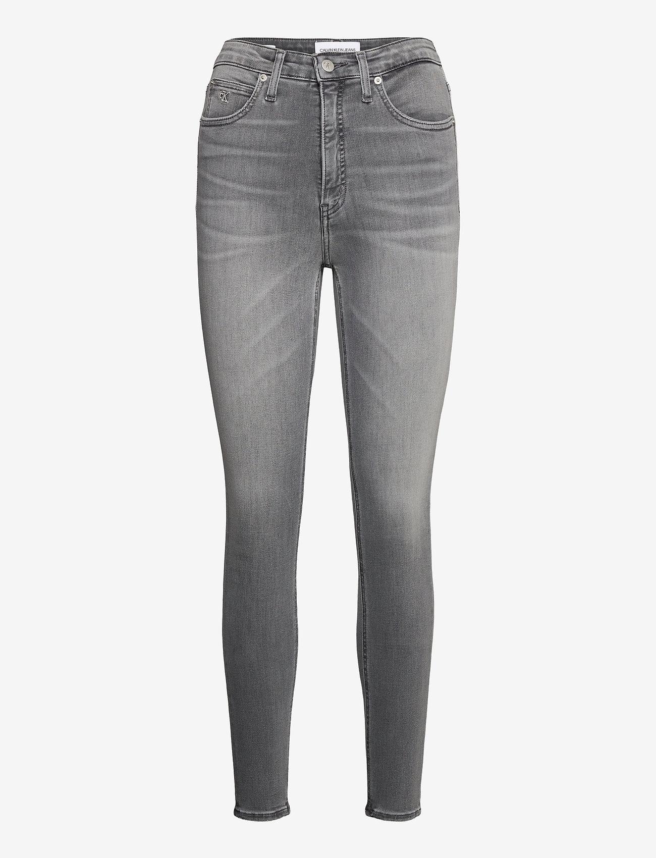 Calvin Klein Jeans - HIGH RISE SUPER SKINNY ANKLE - skinny jeans - denim black - 0