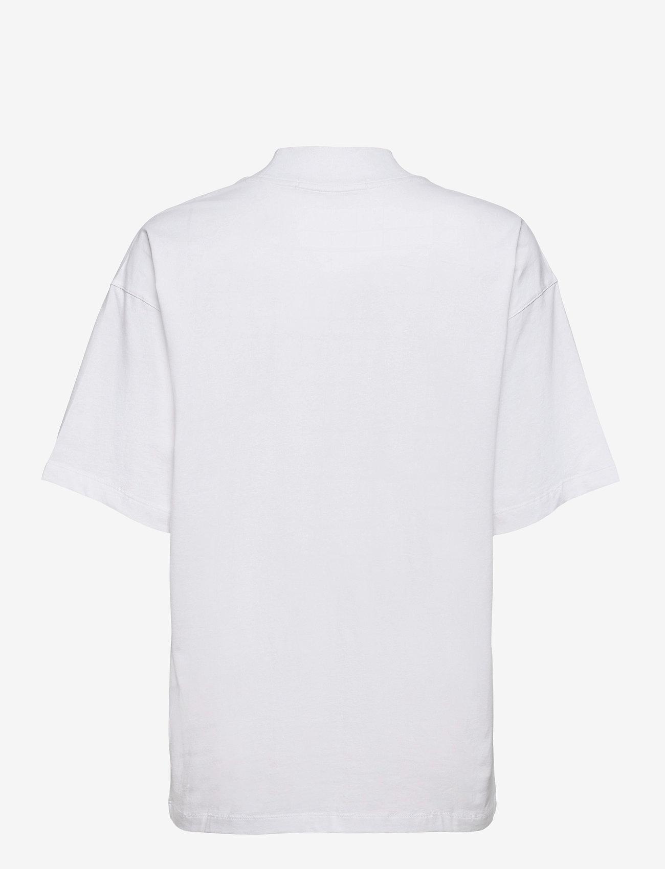 Calvin Klein Jeans - UNISEX MICRO BRANDING MOCK NECK - basic t-shirts - bright white - 1