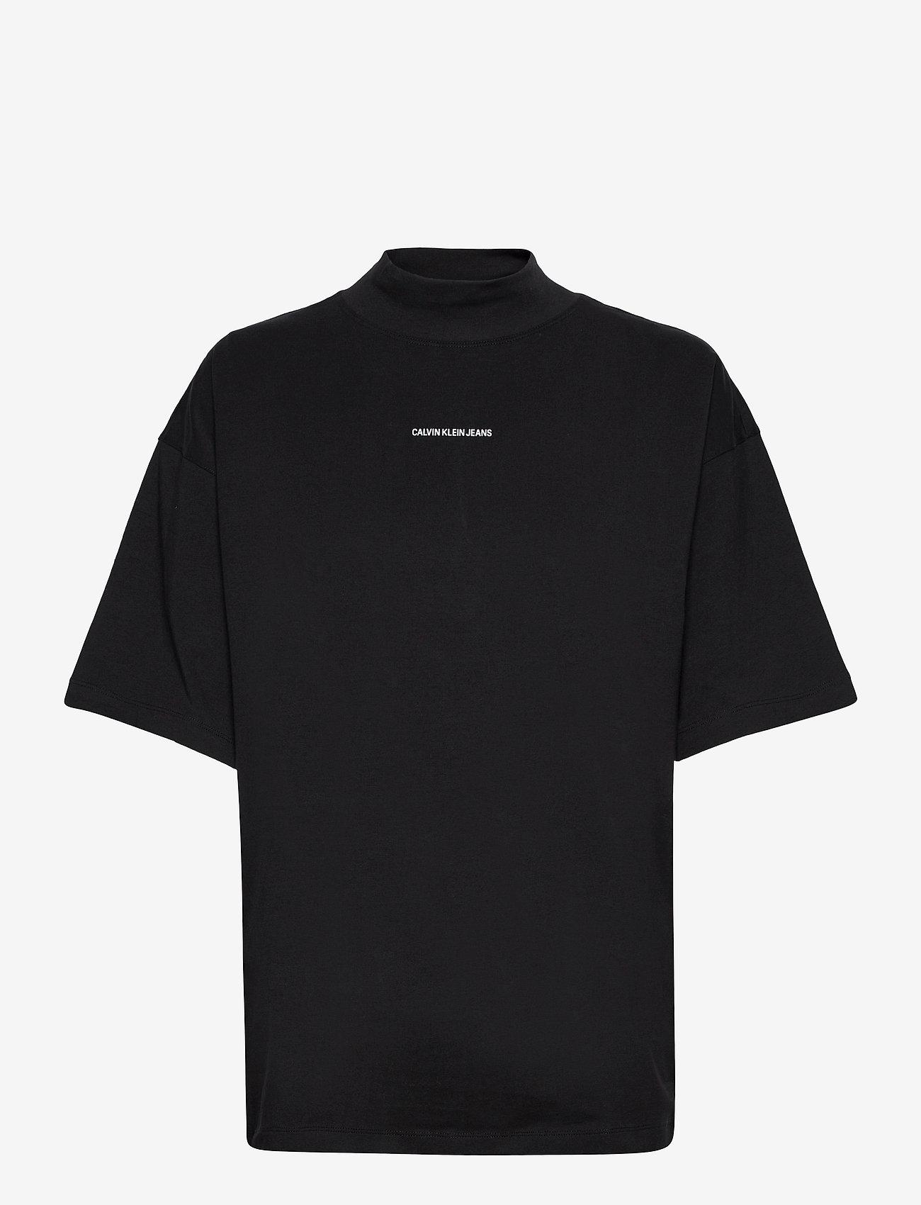 Calvin Klein Jeans - UNISEX MICRO BRANDING MOCK NECK - basis-t-skjorter - ck black - 0
