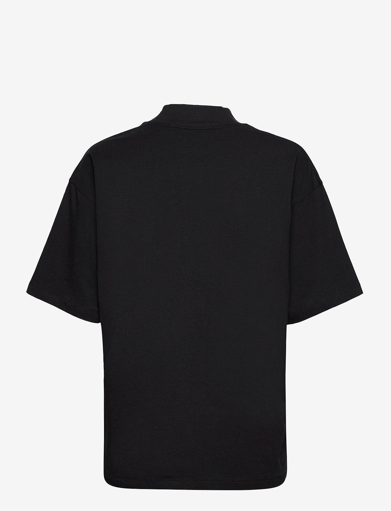 Calvin Klein Jeans - UNISEX MICRO BRANDING MOCK NECK - basis-t-skjorter - ck black - 1