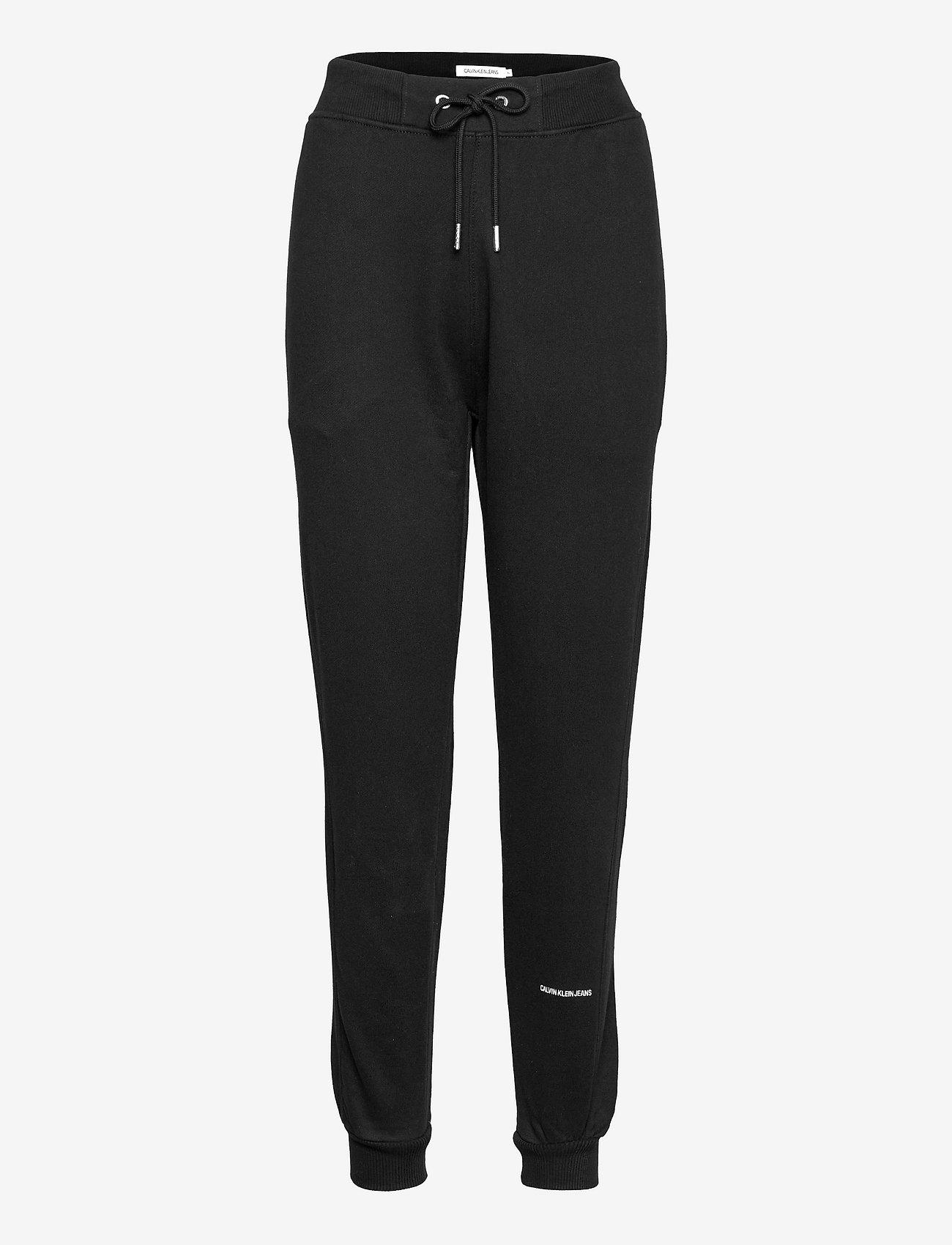Calvin Klein Jeans - PLUS MICRO BRANDING JOGGING PANT - tøj - ck black - 0