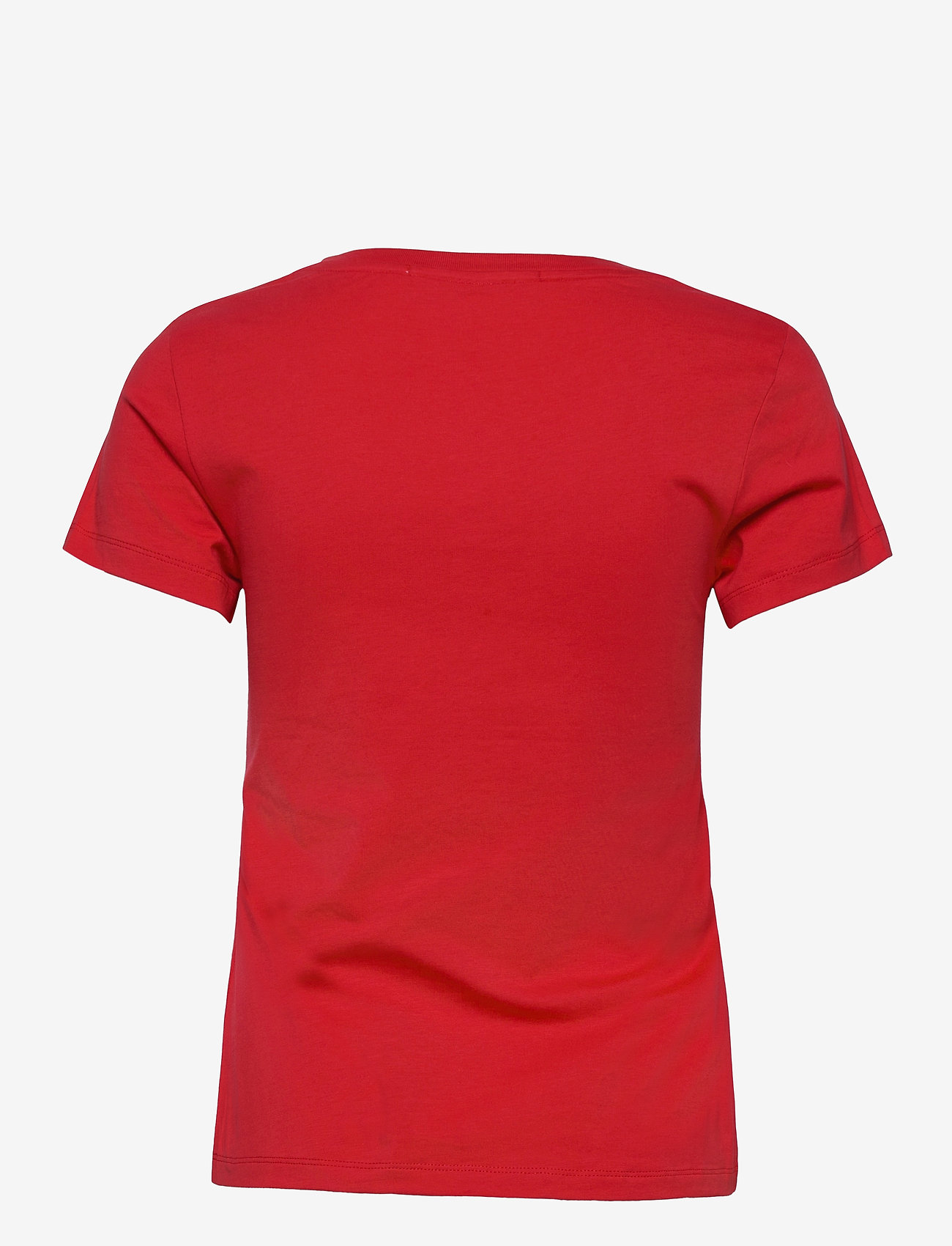 Calvin Klein Jeans - SS V NECK MONOGRAM TEE - t-shirts - racing red - 1