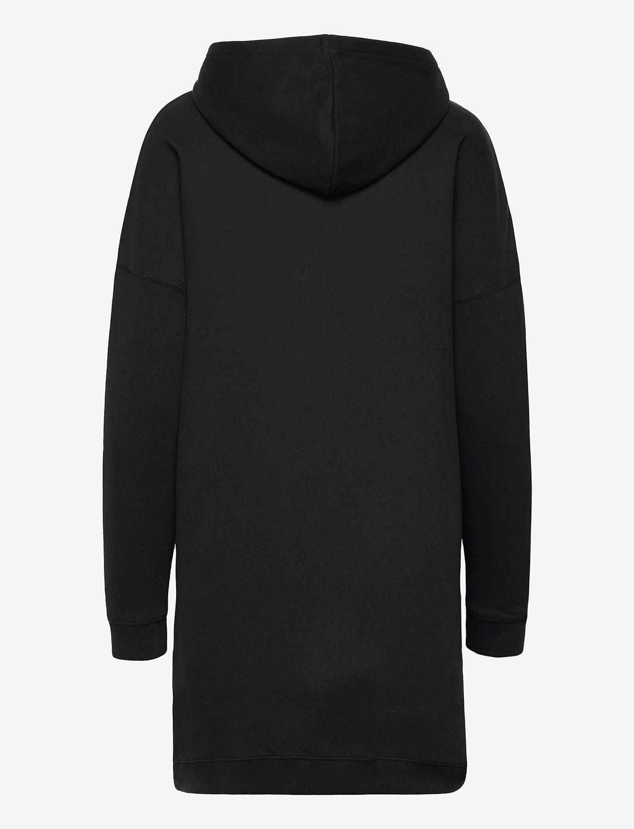 Calvin Klein Jeans - MONOGRAM HOODIE DRESS - hverdagskjoler - ck black - 1