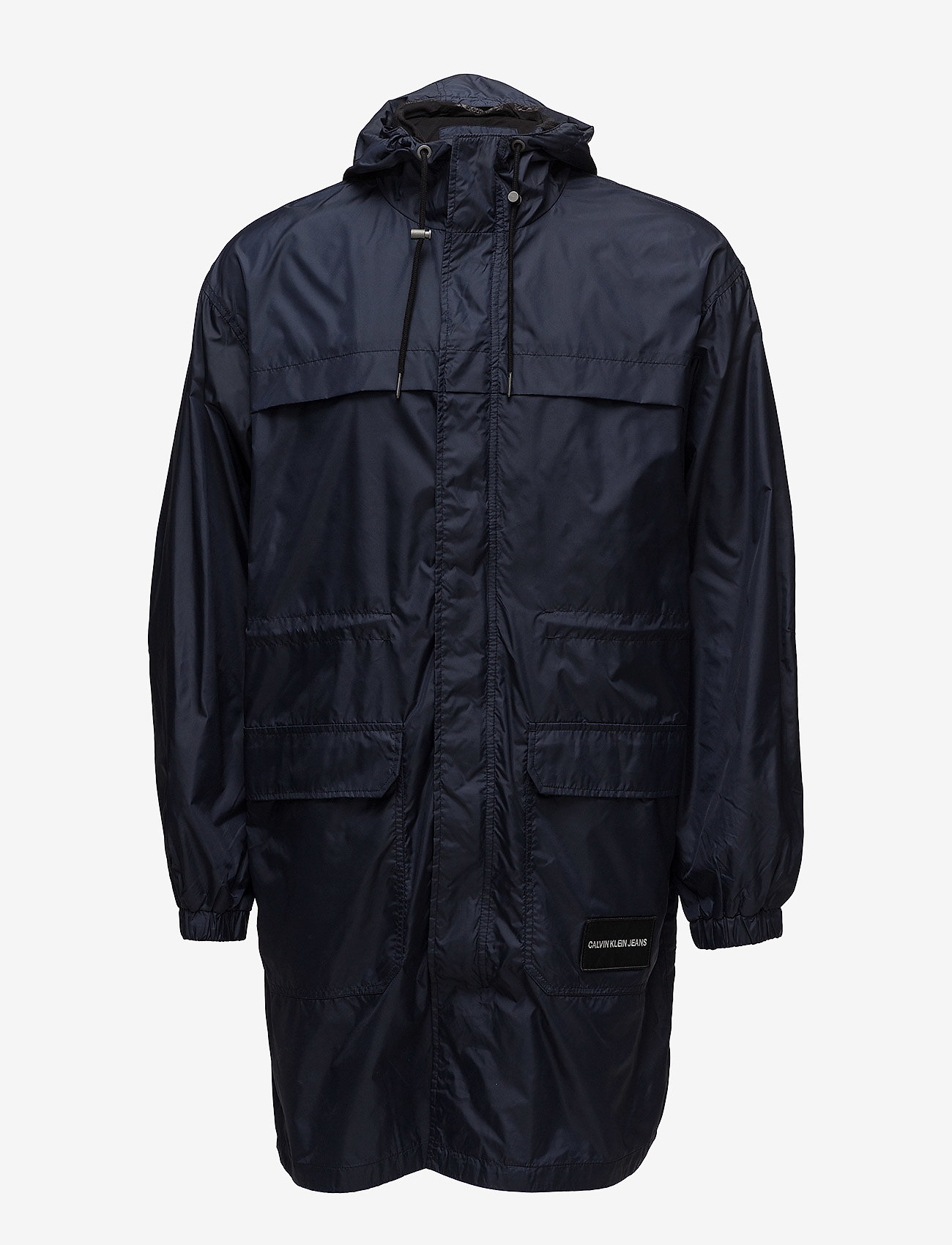 Calvin Klein Jeans - MID LENGTH HOODED NYLON PARKA - parkatakit - night sky