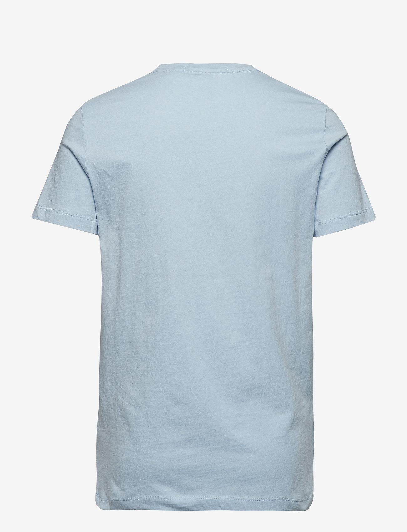 Calvin Klein Jeans - INSTITUTIONAL SLIM LOGO TEE - lyhythihaiset - skyway/white
