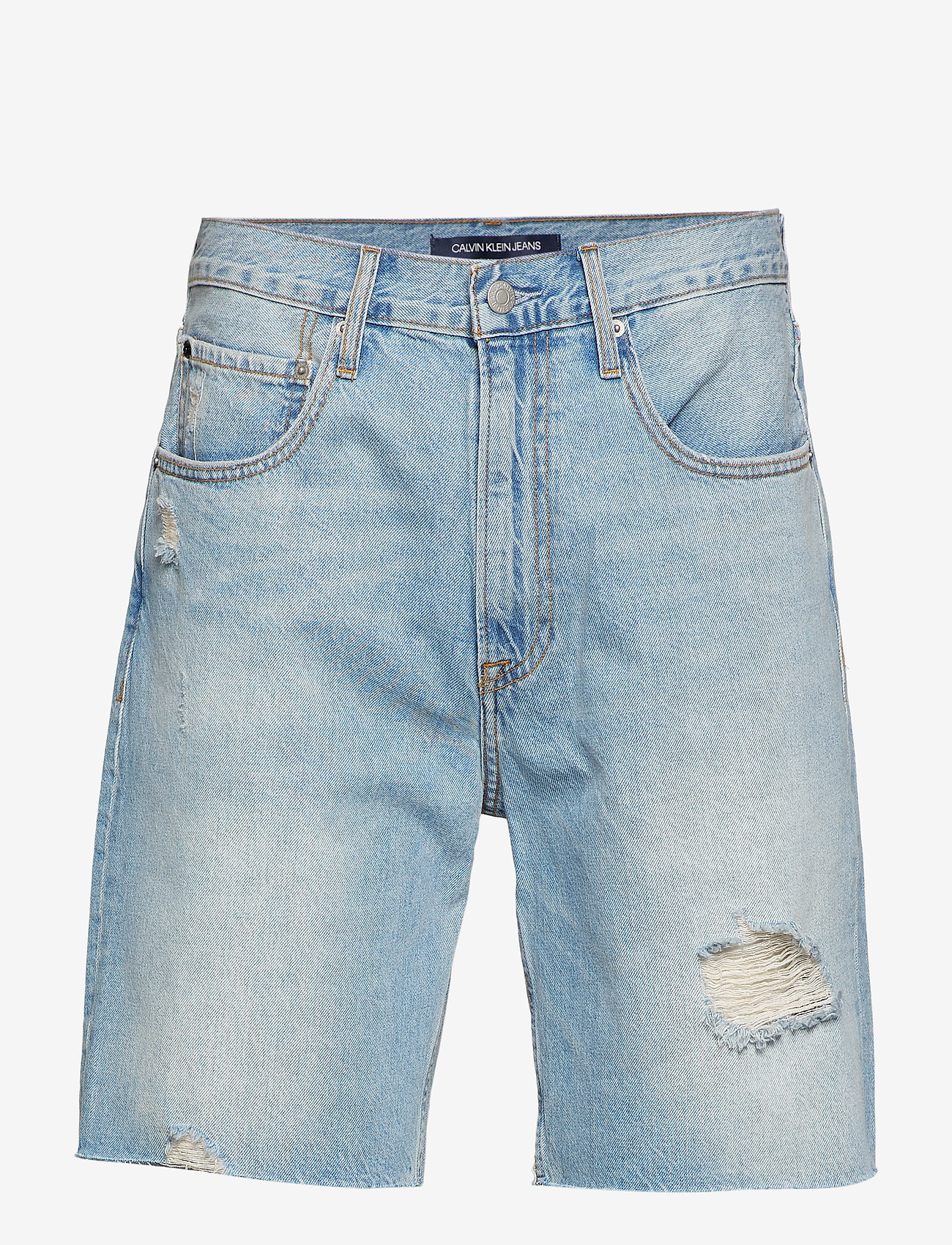 Calvin Klein Jeans - STRAIGHT SHORT - denim shorts - painters blue raw - 0