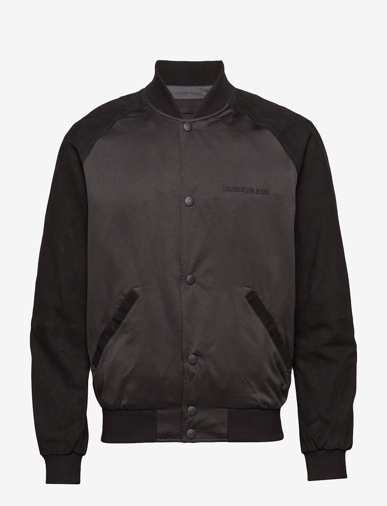 Calvin Klein Jeans - MIX MEDIA BOMBER - bomberjacks - ck black - 0