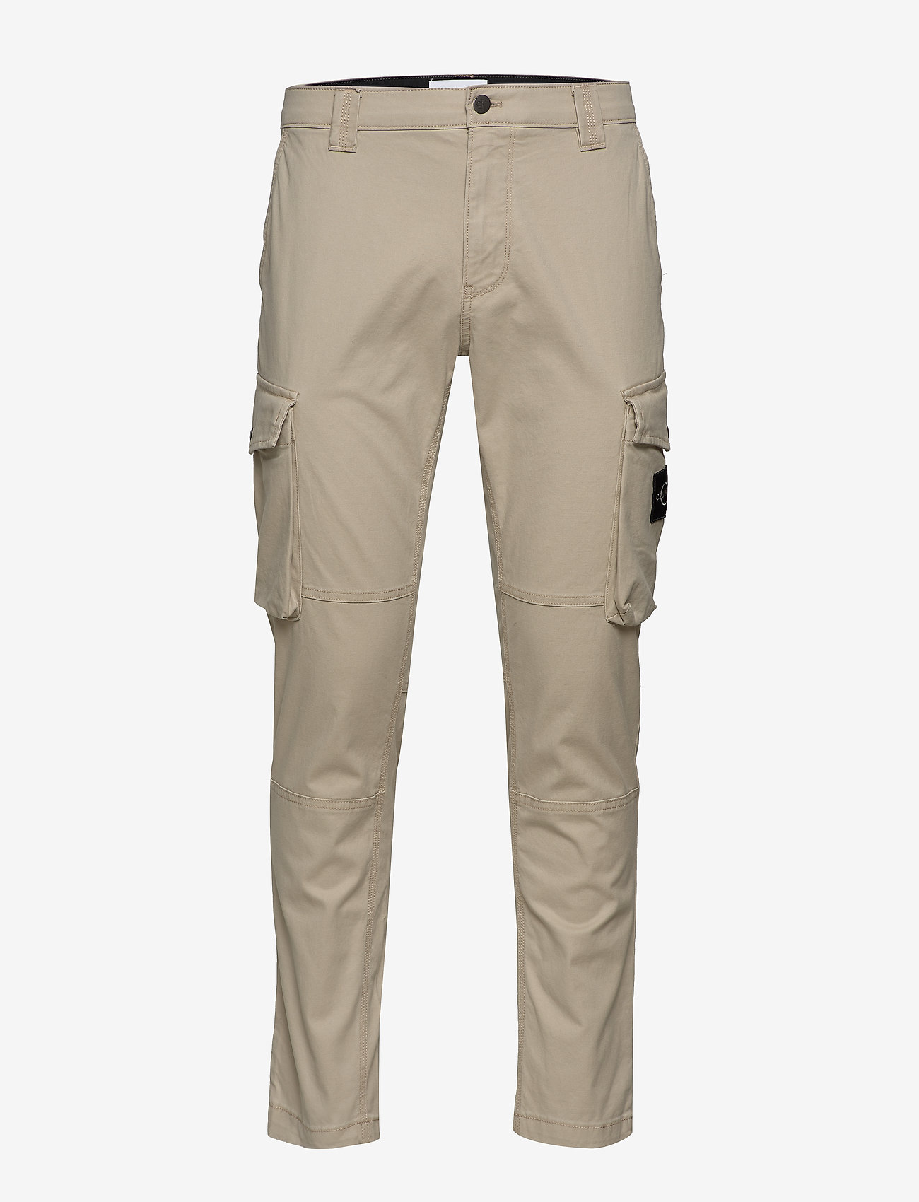 Calvin Klein Jeans - SKINNY WASHED CARGO PANT - cargo housut - plaza taupe - 0