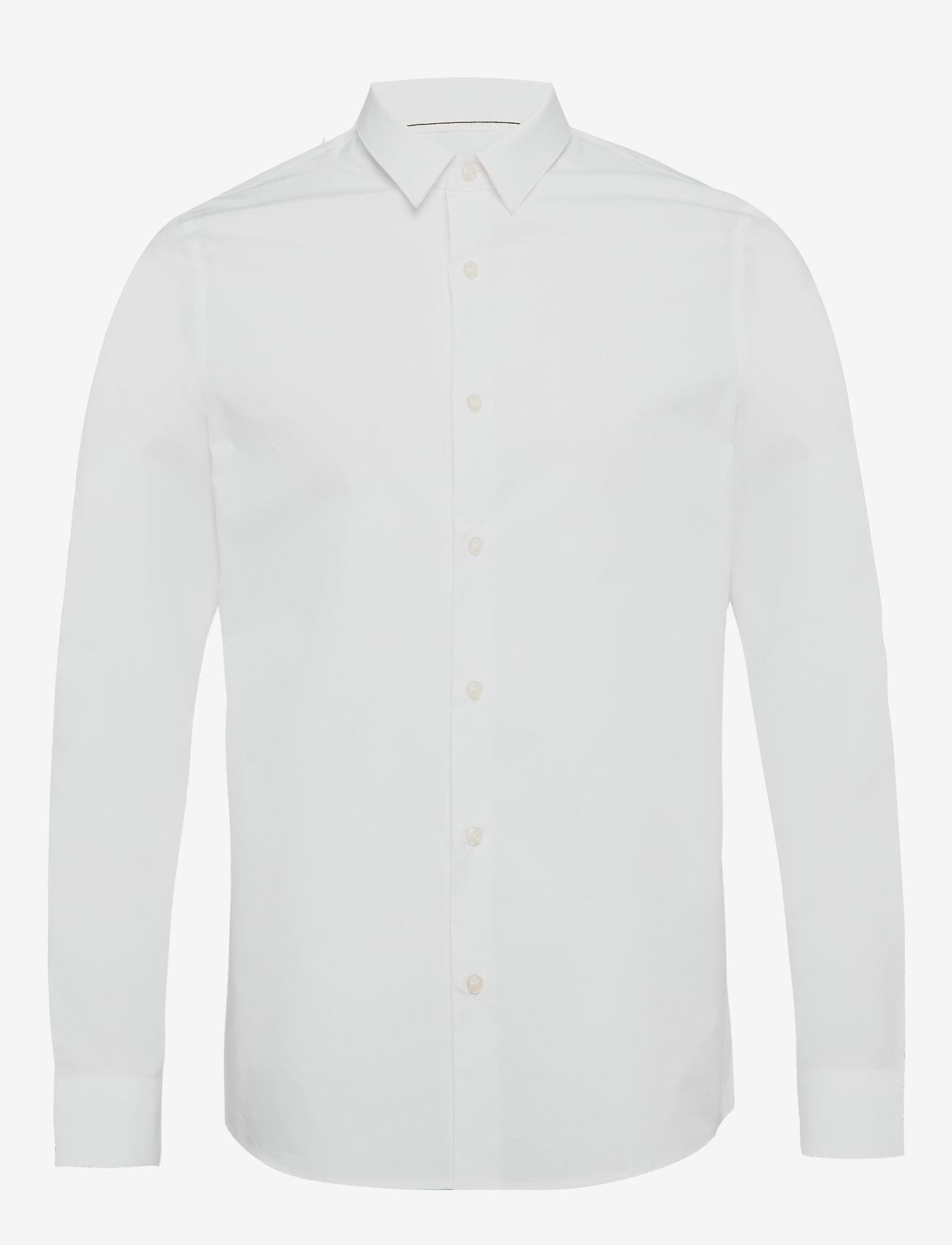 Calvin Klein Jeans - CK CHEST LOGO SLIM STRETCH SHIRT - business shirts - bright white - 0