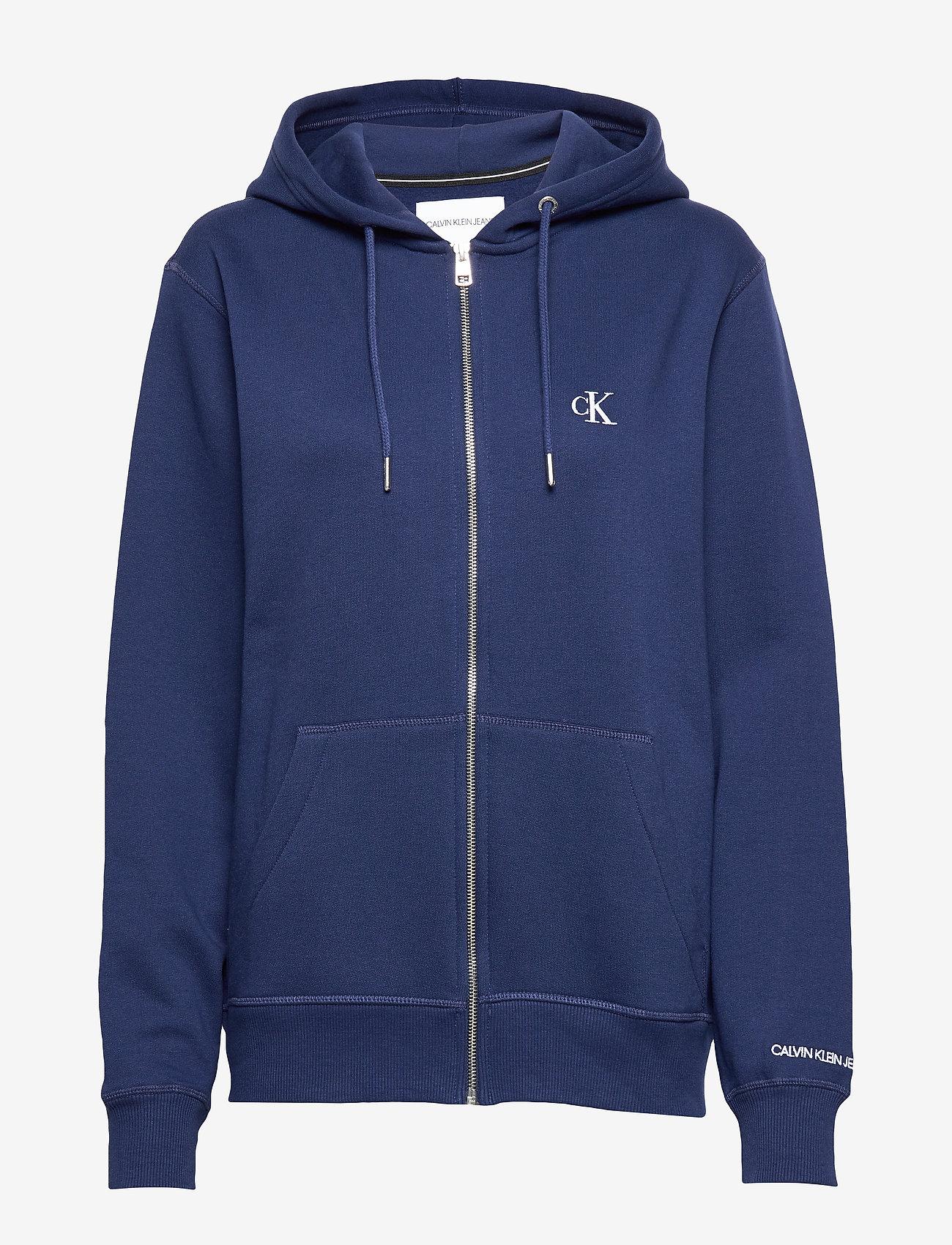 Calvin Klein Jeans - CK ESSENTIAL REG ZIP THROUGH - basic sweatshirts - blueprint - 0