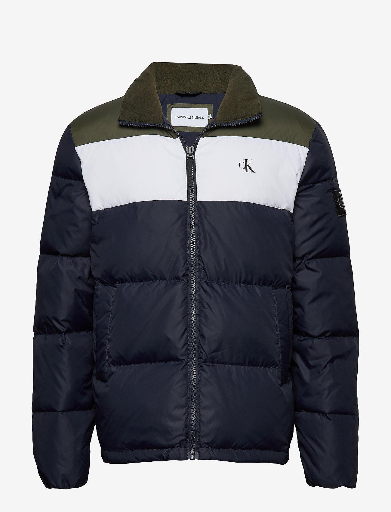 Calvin Klein Jeans - COLOR BLOCK DOWN PUFFER - kurtki puchowe - night sky / deep depths - 0