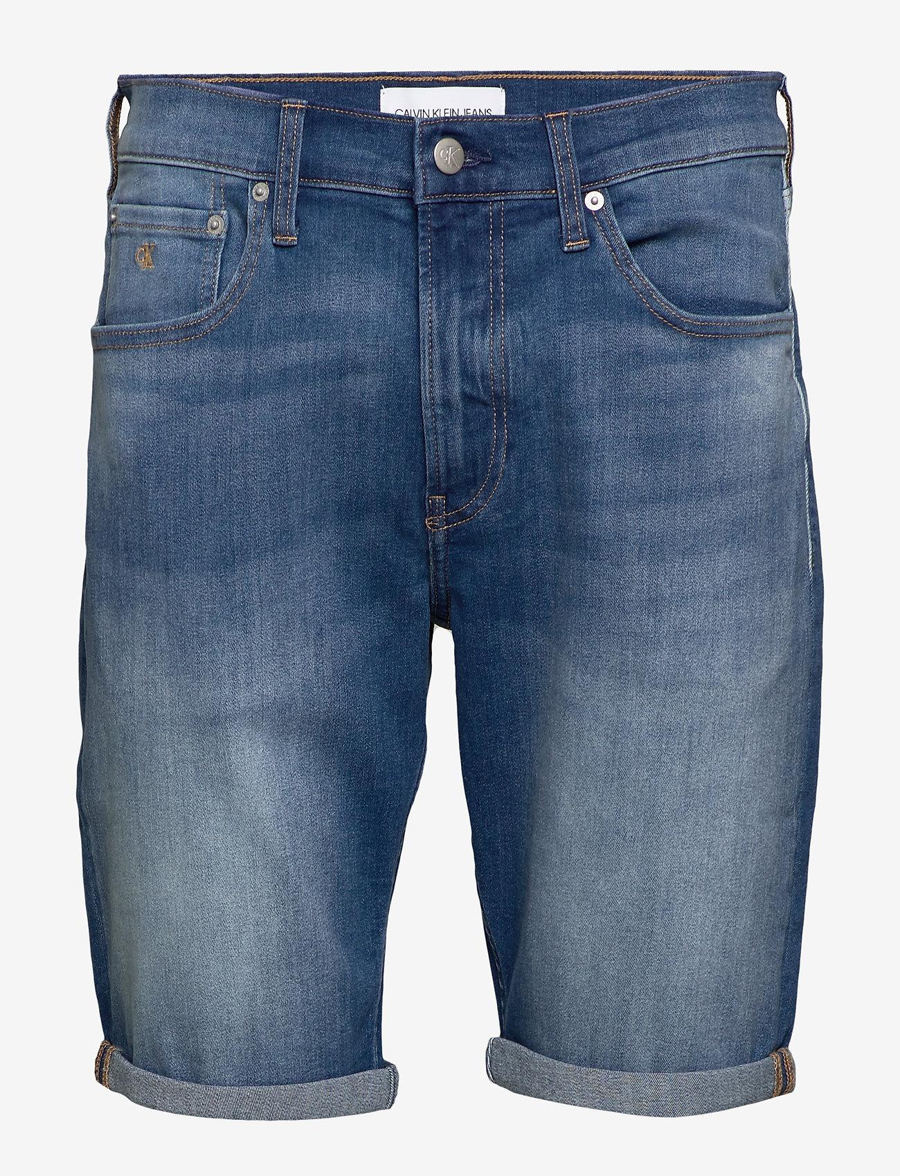 Calvin Klein Jeans - REGULAR SHORT - farkkushortsit - da033 bright mid - 0