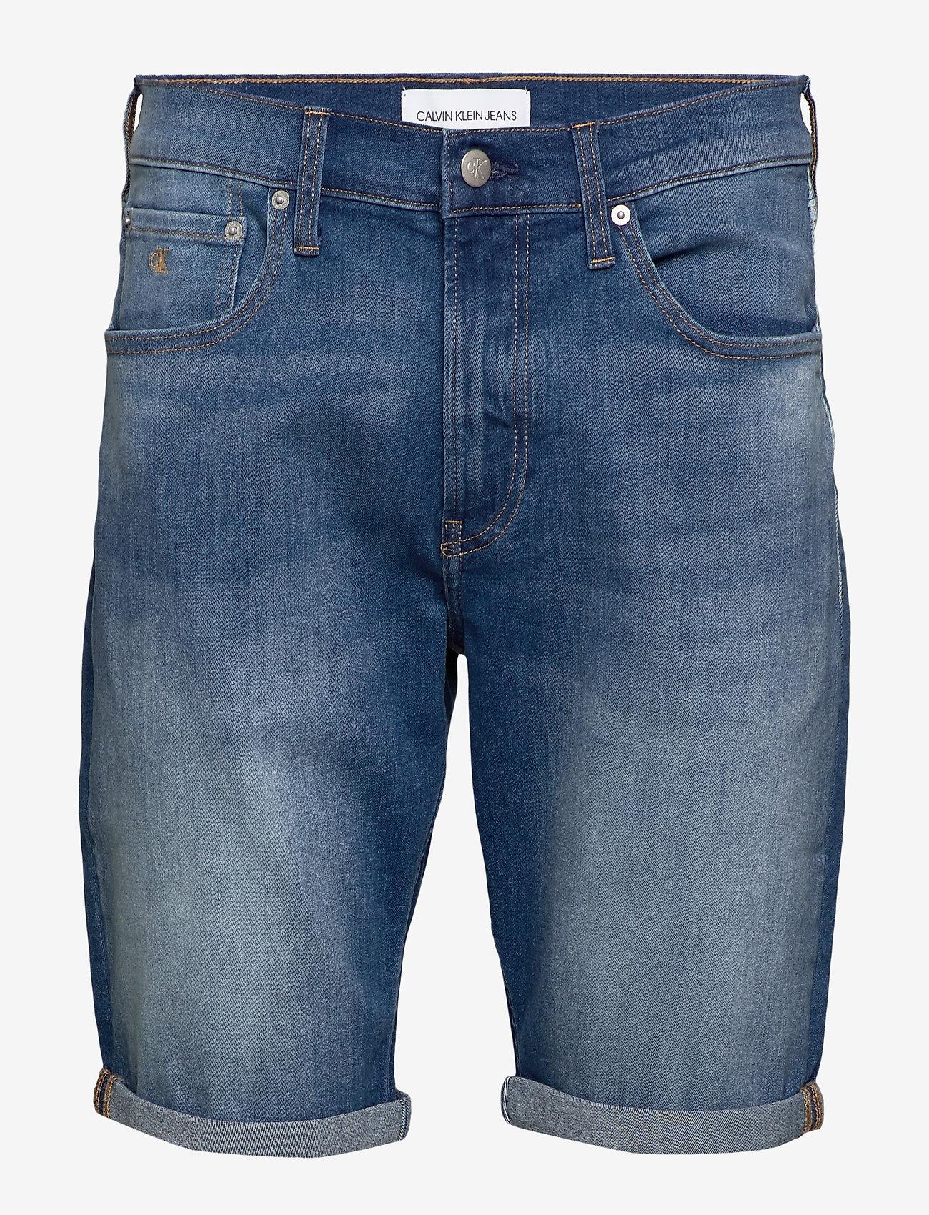 Calvin Klein Jeans - REGULAR SHORT - farkkushortsit - da033 bright mid - 1