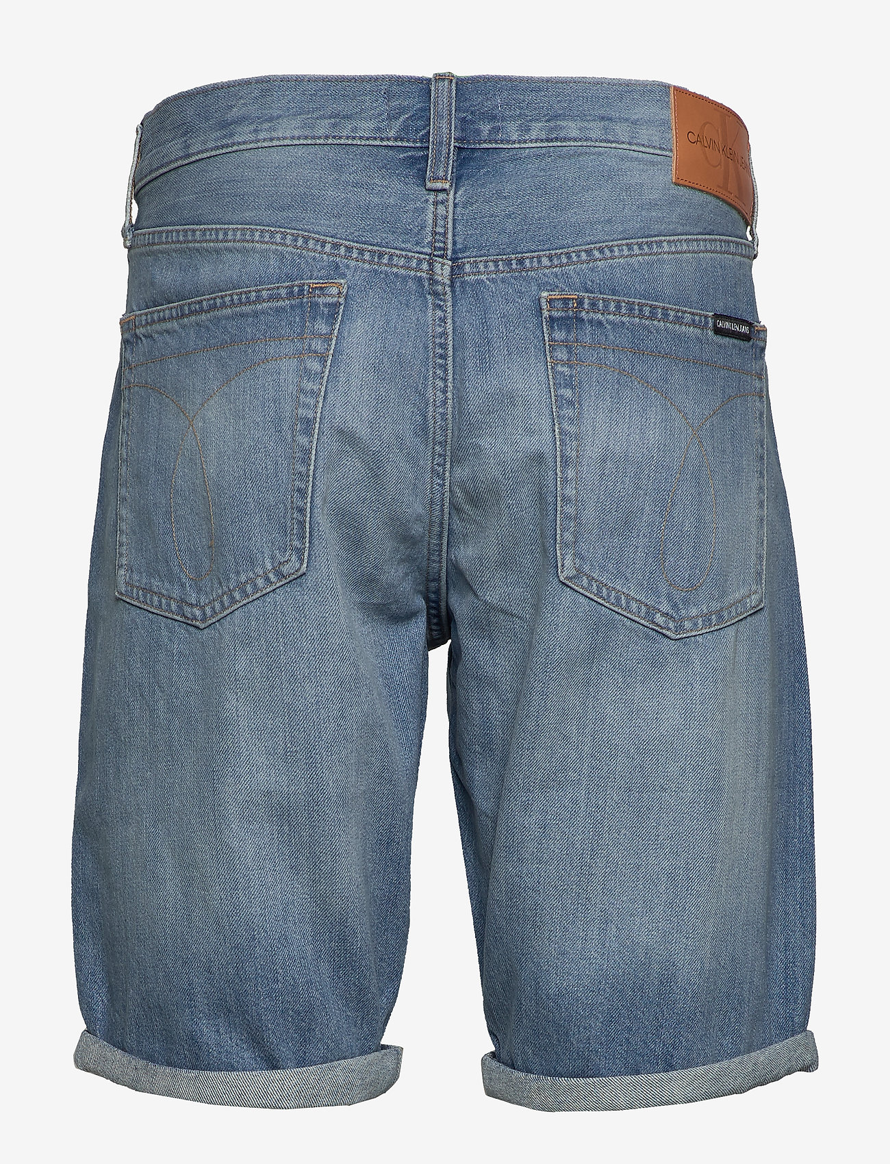 Calvin Klein Jeans - REGULAR SHORT - farkkushortsit - da037 light blue