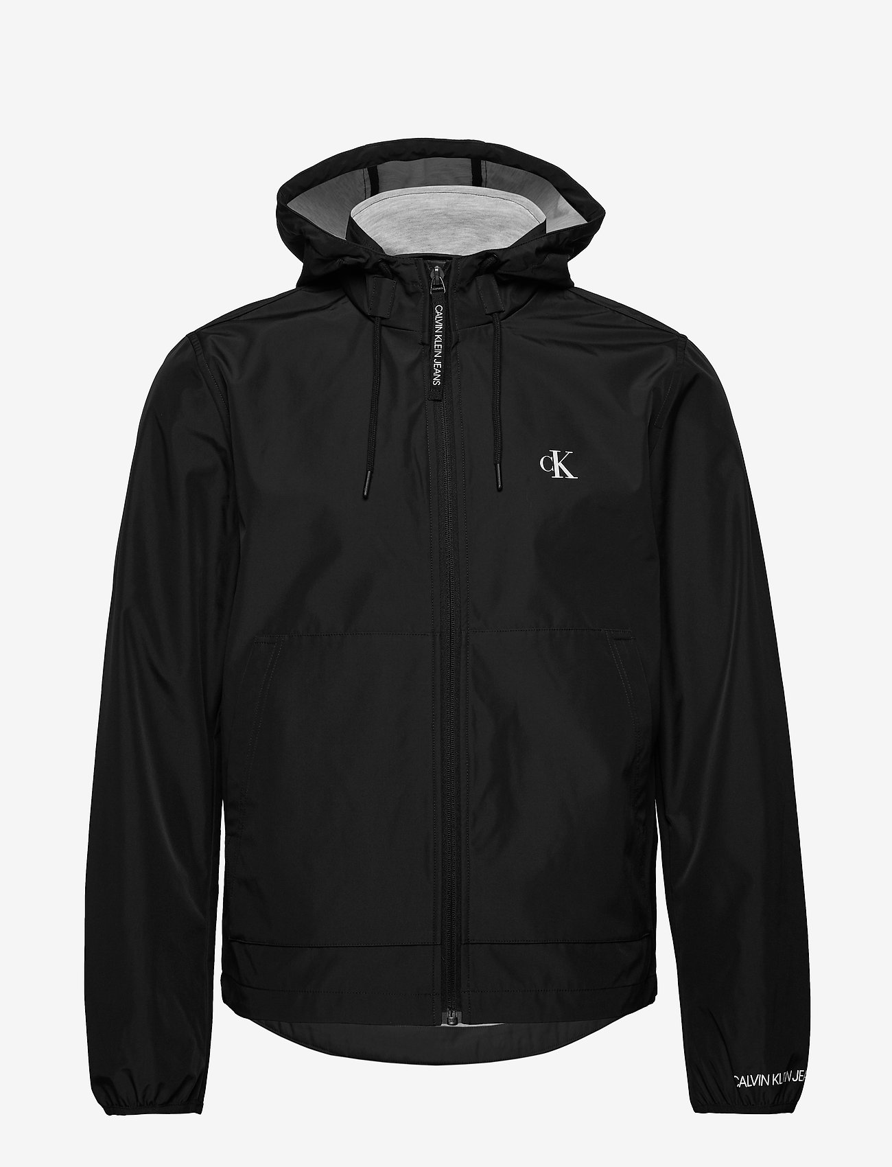 Calvin Klein Jeans - JERSEY LINED HOODED - light jackets - ck black/ice grey heater - 1