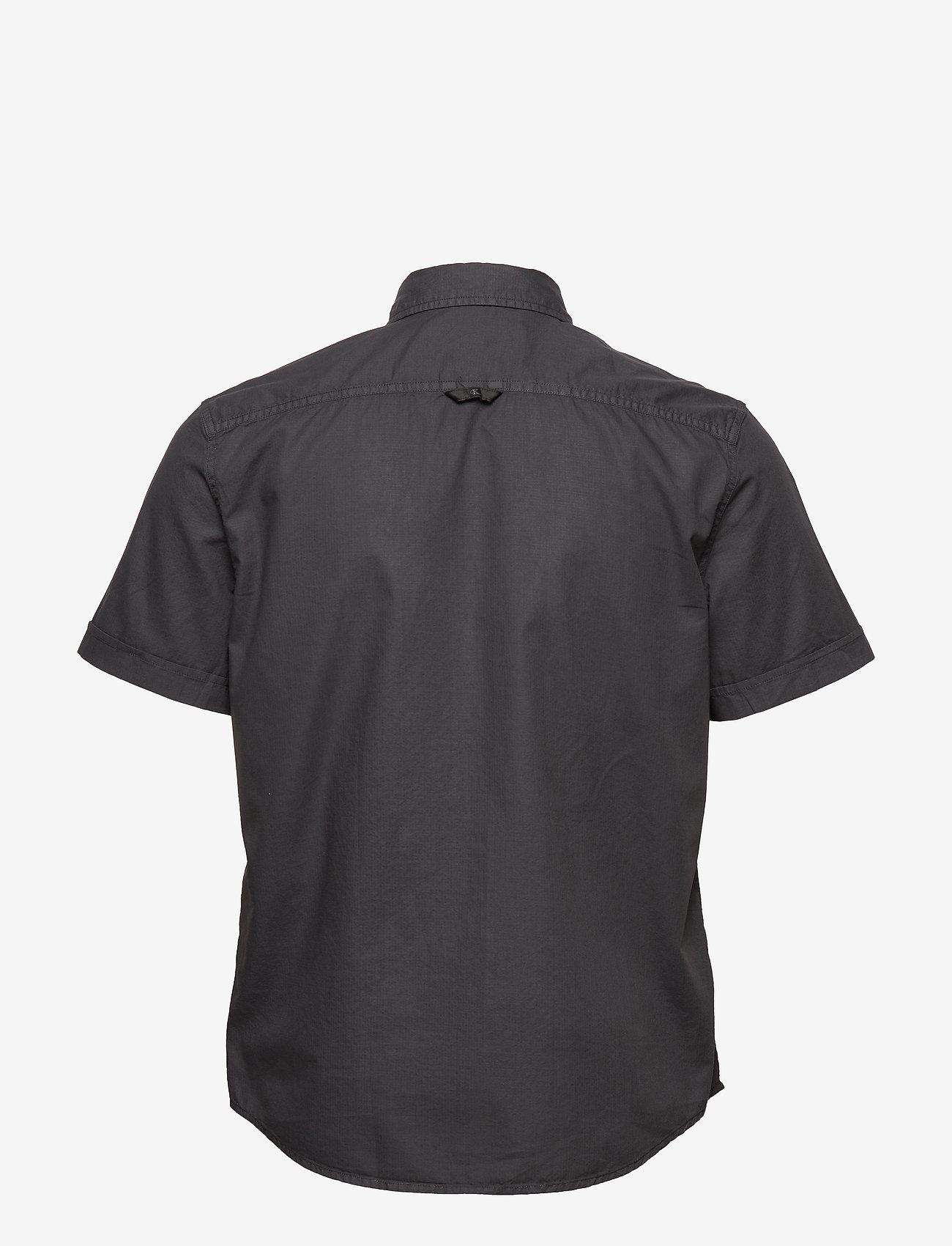 Calvin Klein Jeans - RIBSTOP POPLIN SS SH - basic overhemden - ck black - 1