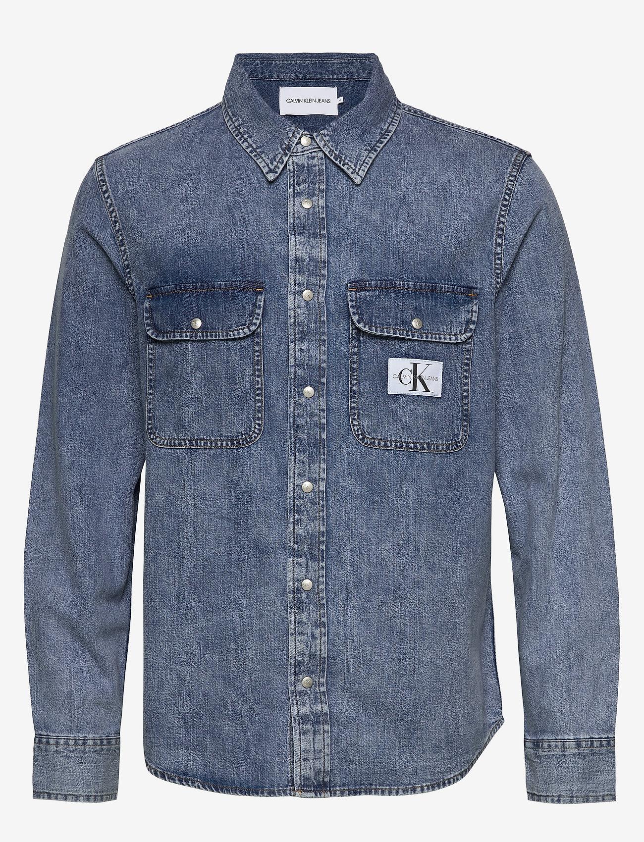 Calvin Klein Jeans - ARCHIVE REGULAR SHIRT - basic overhemden - ab078 icn mid blue - 0