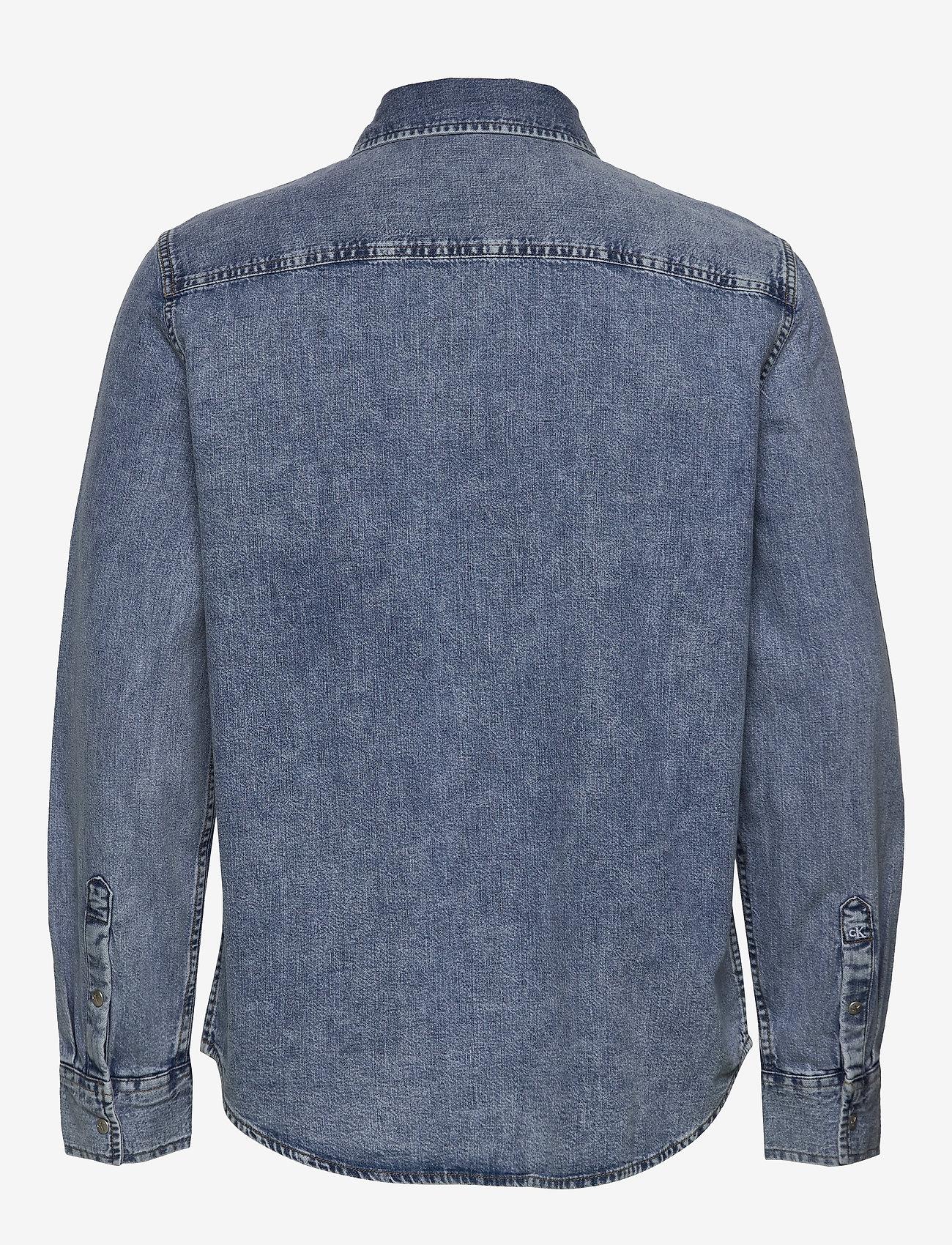 Calvin Klein Jeans - ARCHIVE REGULAR SHIRT - basic overhemden - ab078 icn mid blue - 1