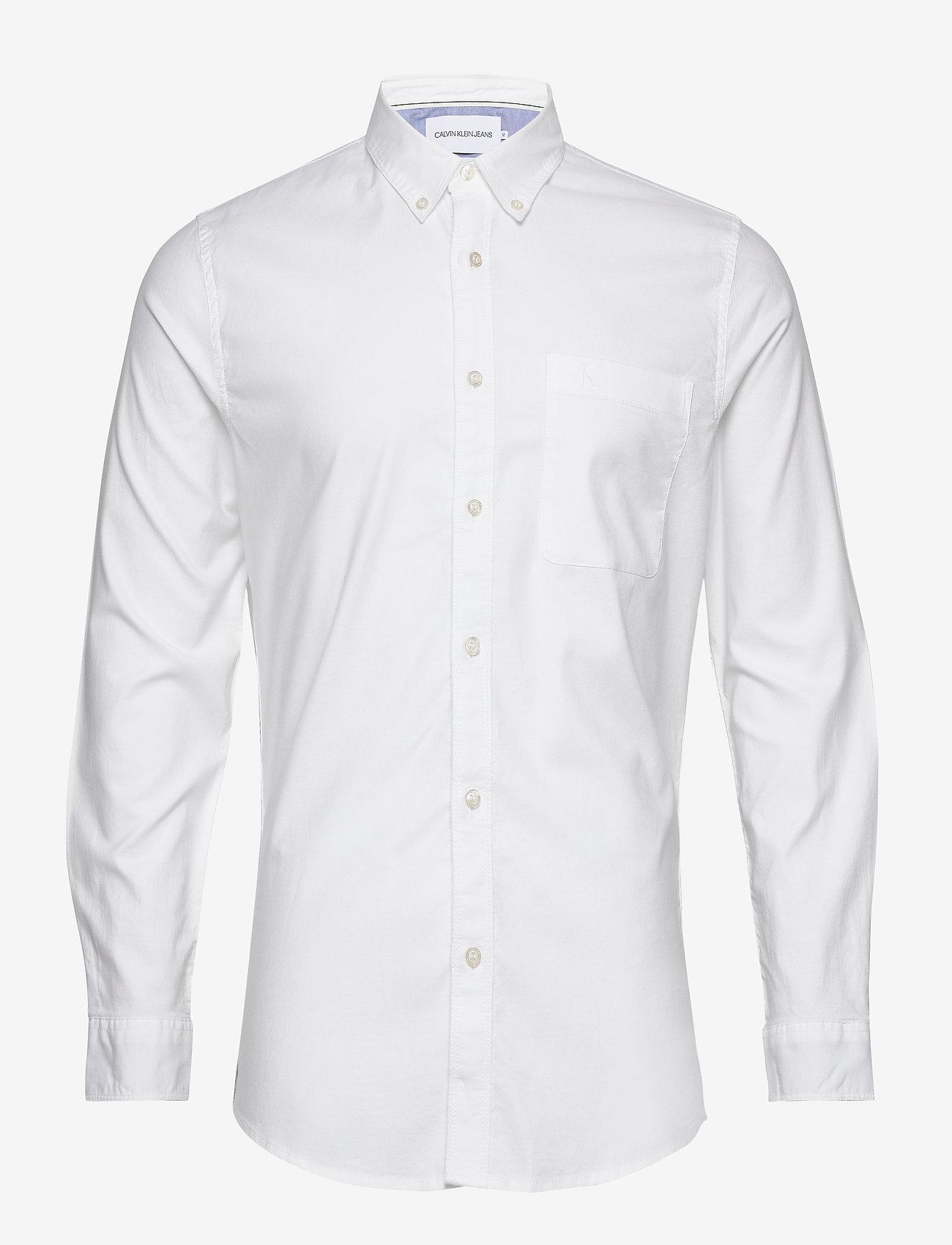 Calvin Klein Jeans - CHAMBRAY SLIM STRETCH - basic overhemden - bright white - 0