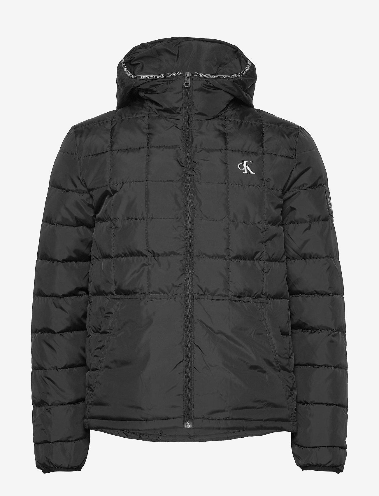 Calvin Klein Jeans - PADDED HOODED JACKET - kurtki puchowe - ck black - 1