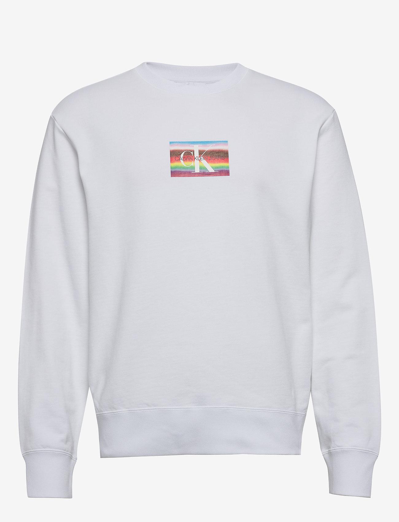 Calvin Klein Jeans - MULTI LOGO REL - svetarit - bright white