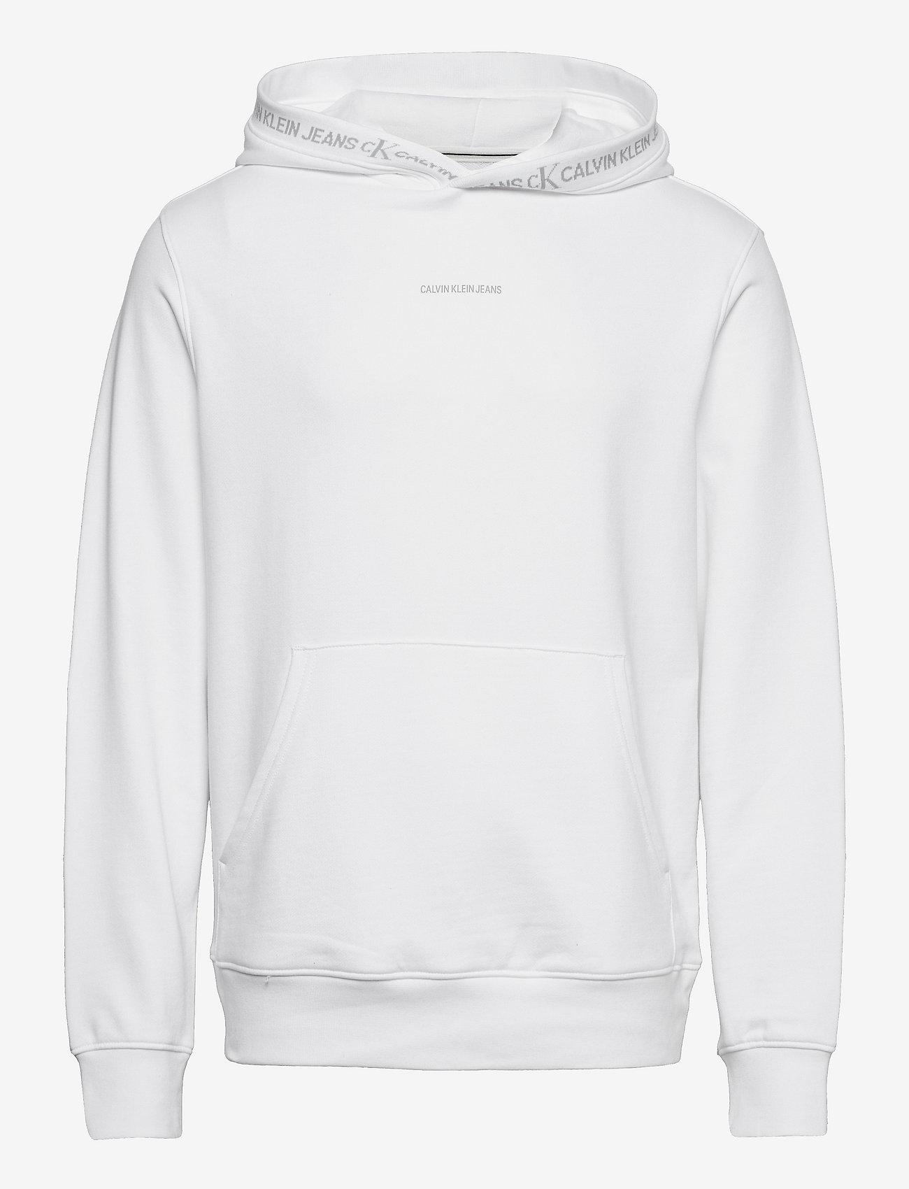 Calvin Klein Jeans - LOGO JACQUARD HOODIE - sweats à capuche - bright white - 0