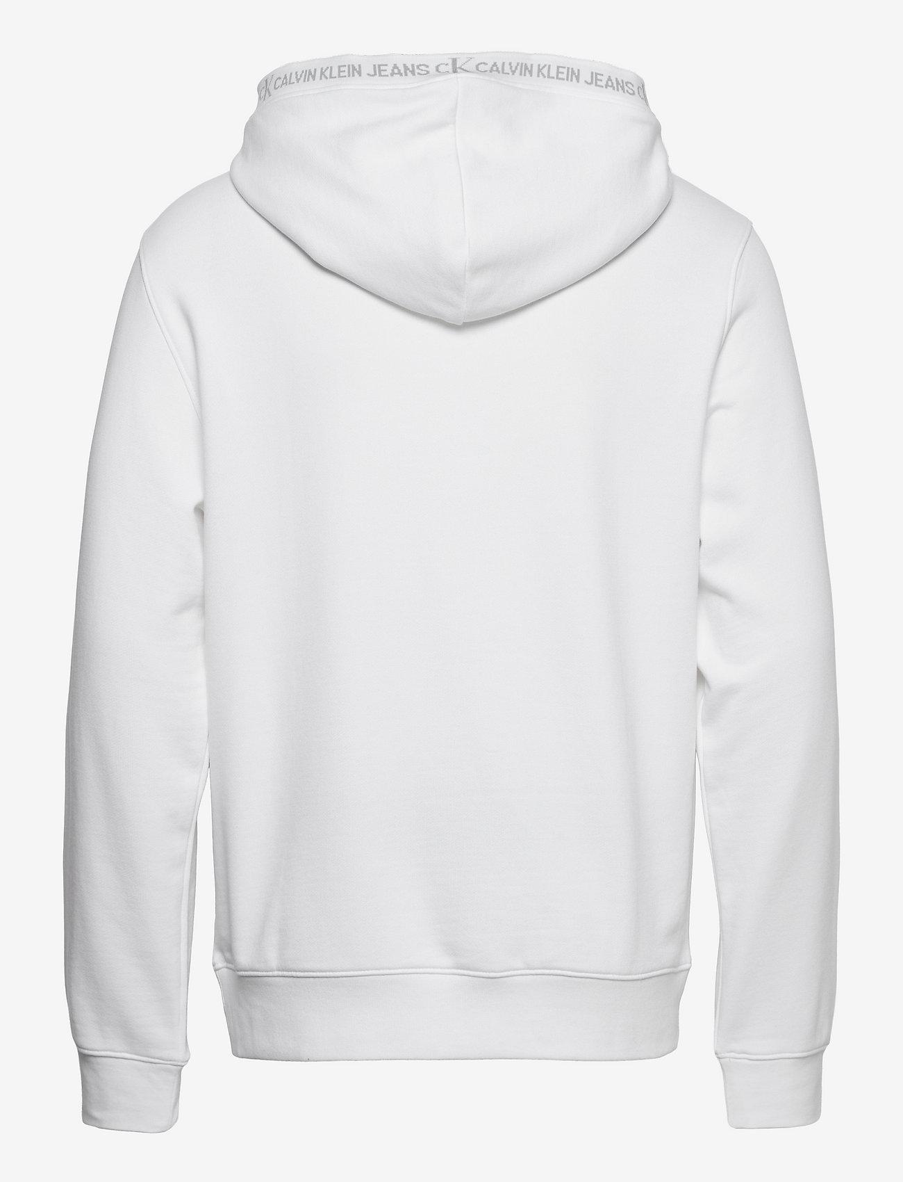 Calvin Klein Jeans - LOGO JACQUARD HOODIE - sweats à capuche - bright white - 1