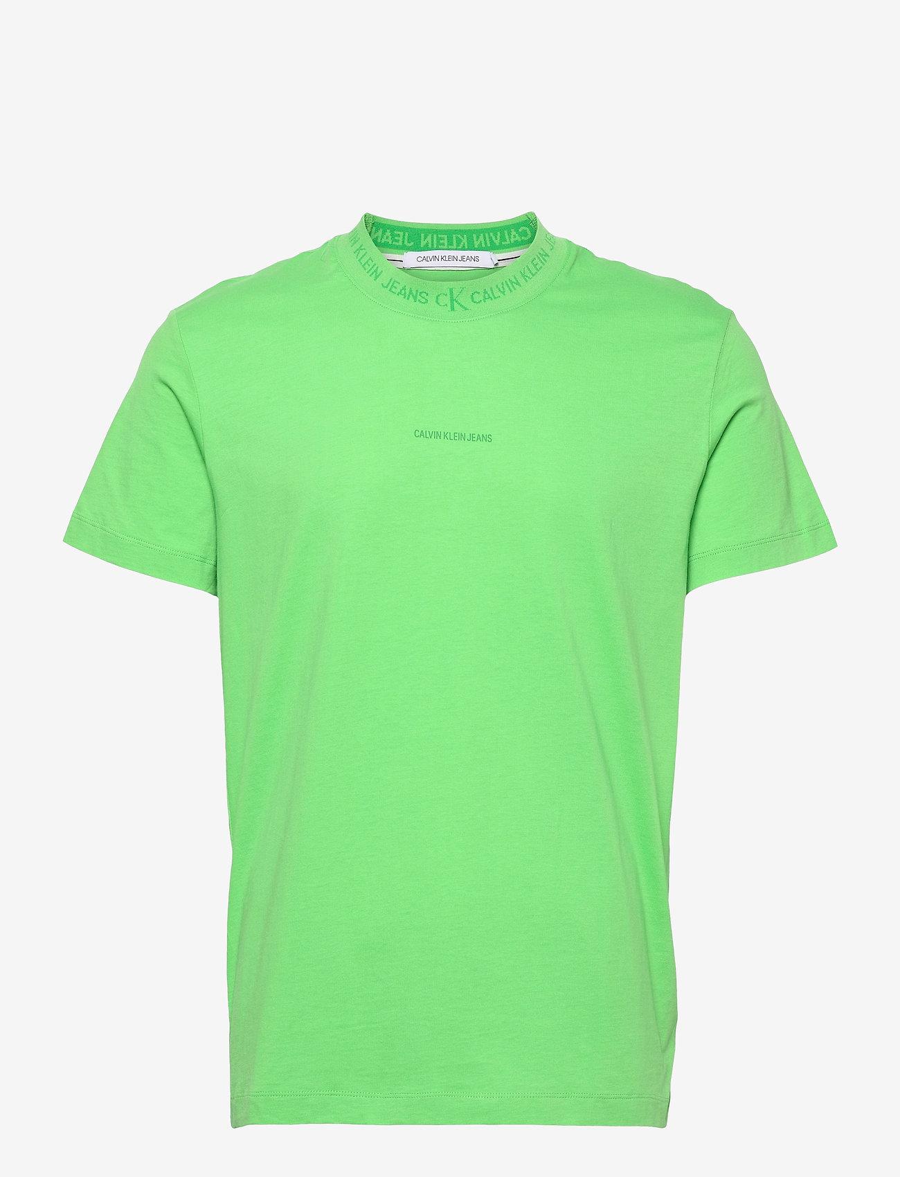 Calvin Klein Jeans - LOGO JACQUARD TEE - t-shirts basiques - acid green - 0