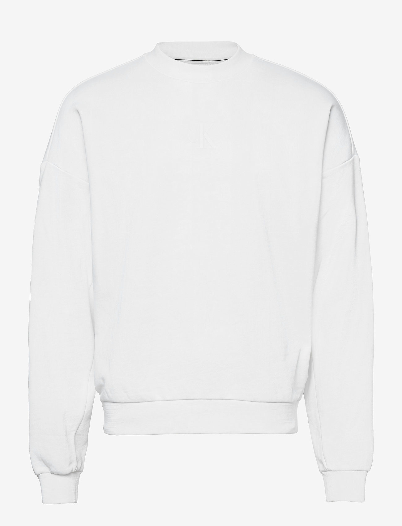 Calvin Klein Jeans - CK SLICED BACK GRAPHIC CN - truien - bright white - 0