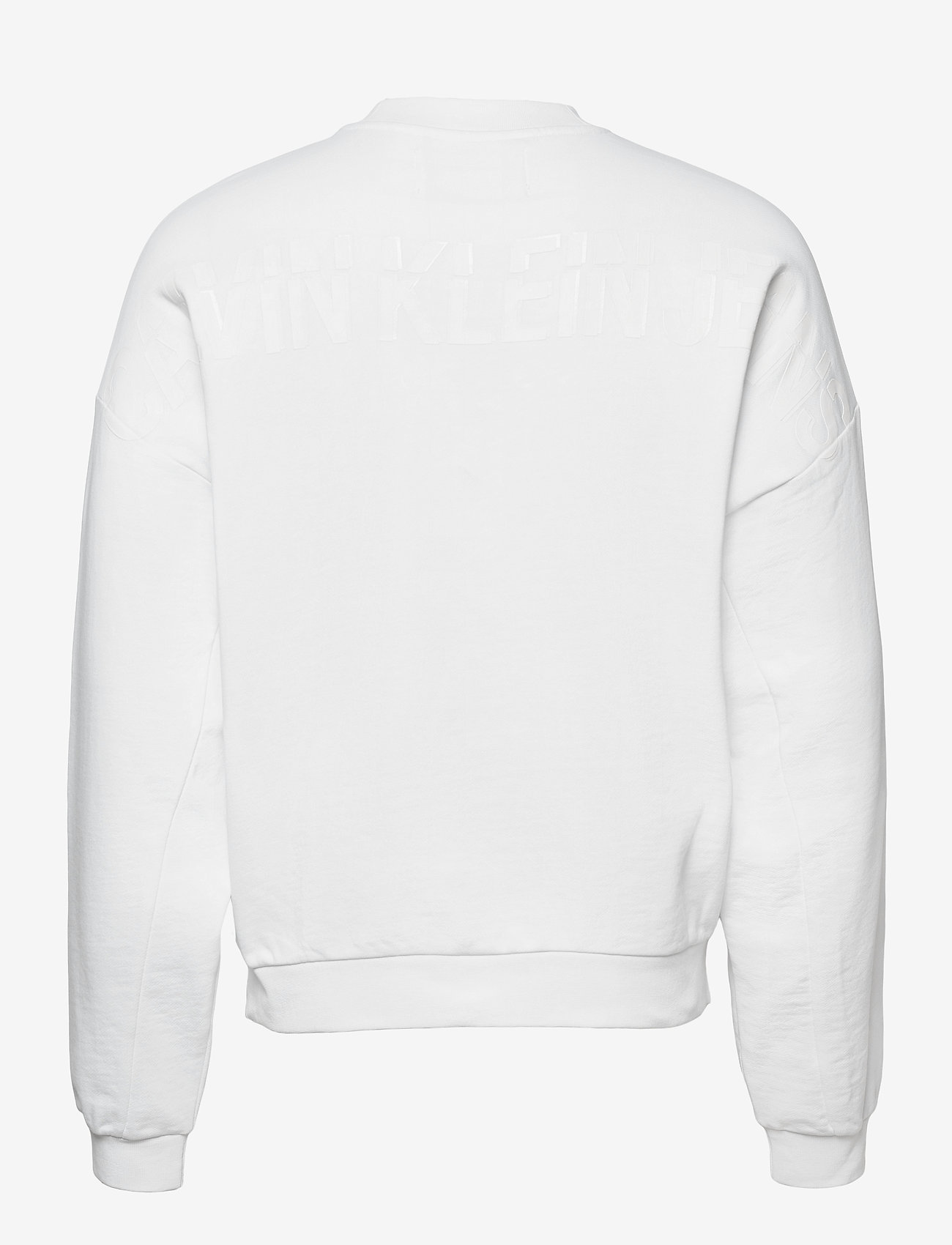 Calvin Klein Jeans - CK SLICED BACK GRAPHIC CN - truien - bright white - 1
