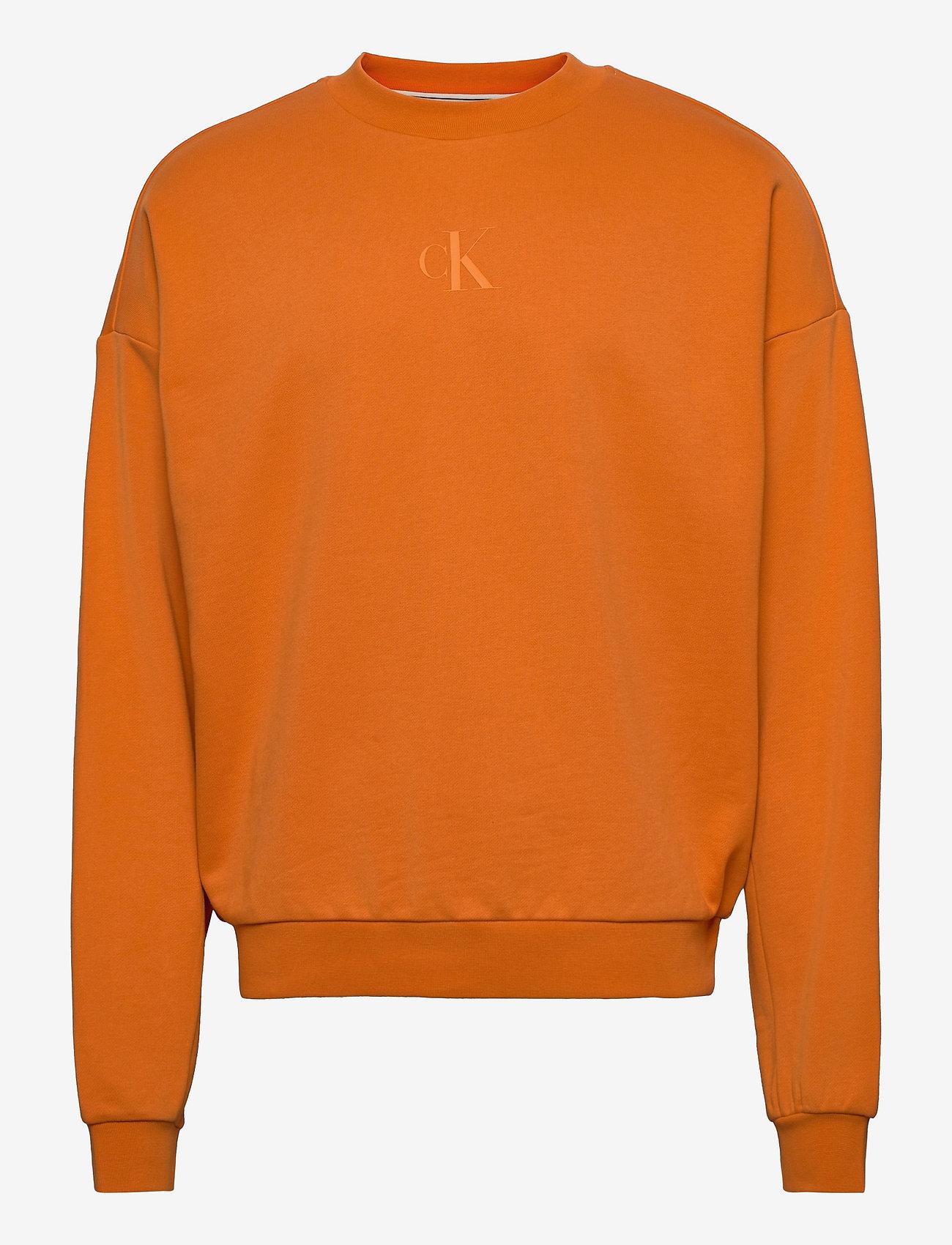 Calvin Klein Jeans - CK SLICED BACK GRAPHIC CN - sweats - rusty orange - 0