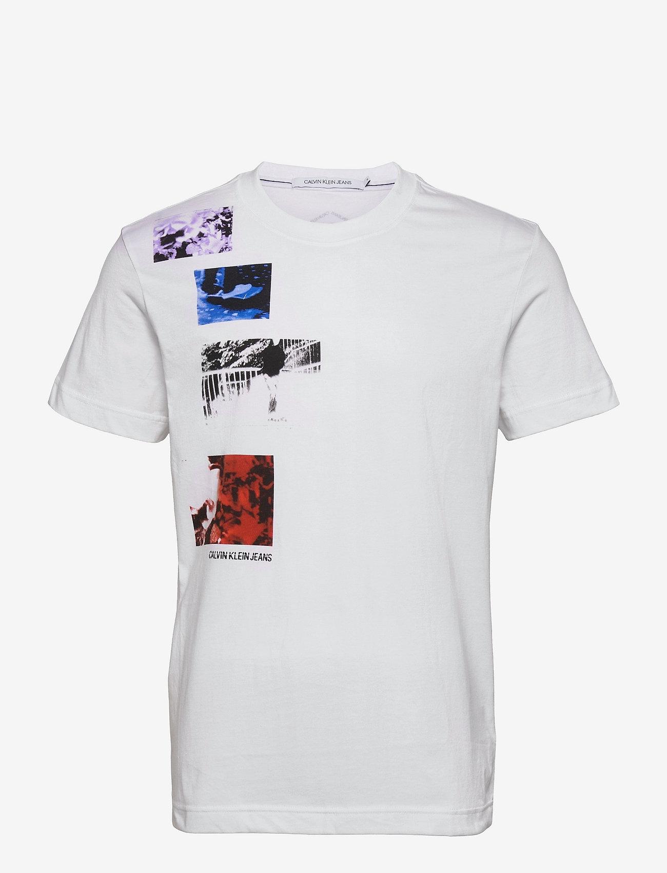 Calvin Klein Jeans - URBAN SKATE MULTI GRAPHIC TEE - korte mouwen - bright white - 0
