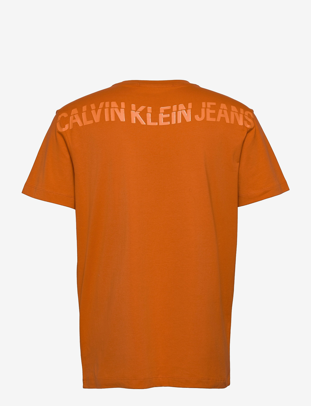 Calvin Klein Jeans - CK SLICED BACK GRAPHIC TEE - t-shirts basiques - rusty orange - 1
