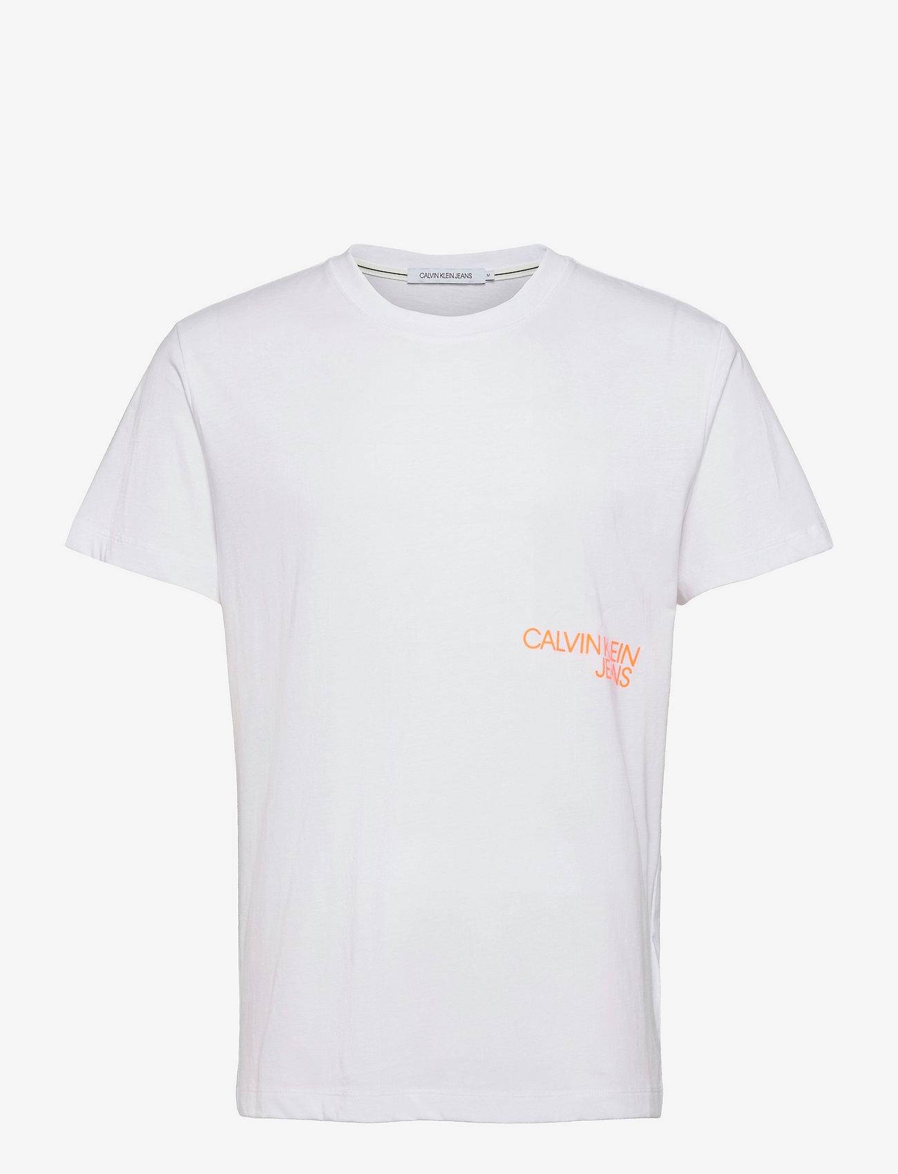 Calvin Klein Jeans - CK MONOGRAM CLEAR PRINT TEE - t-shirts basiques - bright white - 0
