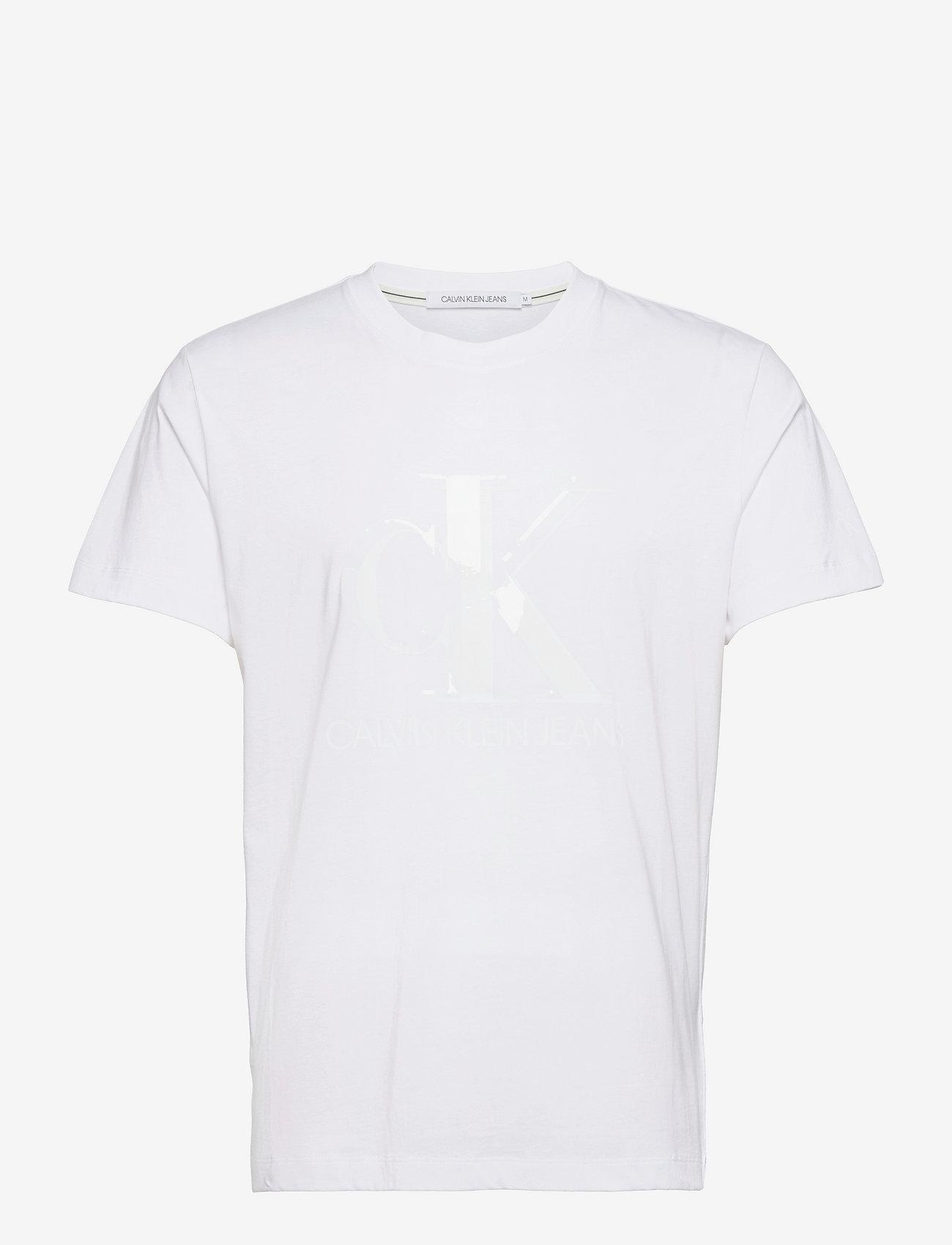 Calvin Klein Jeans - CK MONOGRAM WATERBASE TEE - korte mouwen - bright white - 0