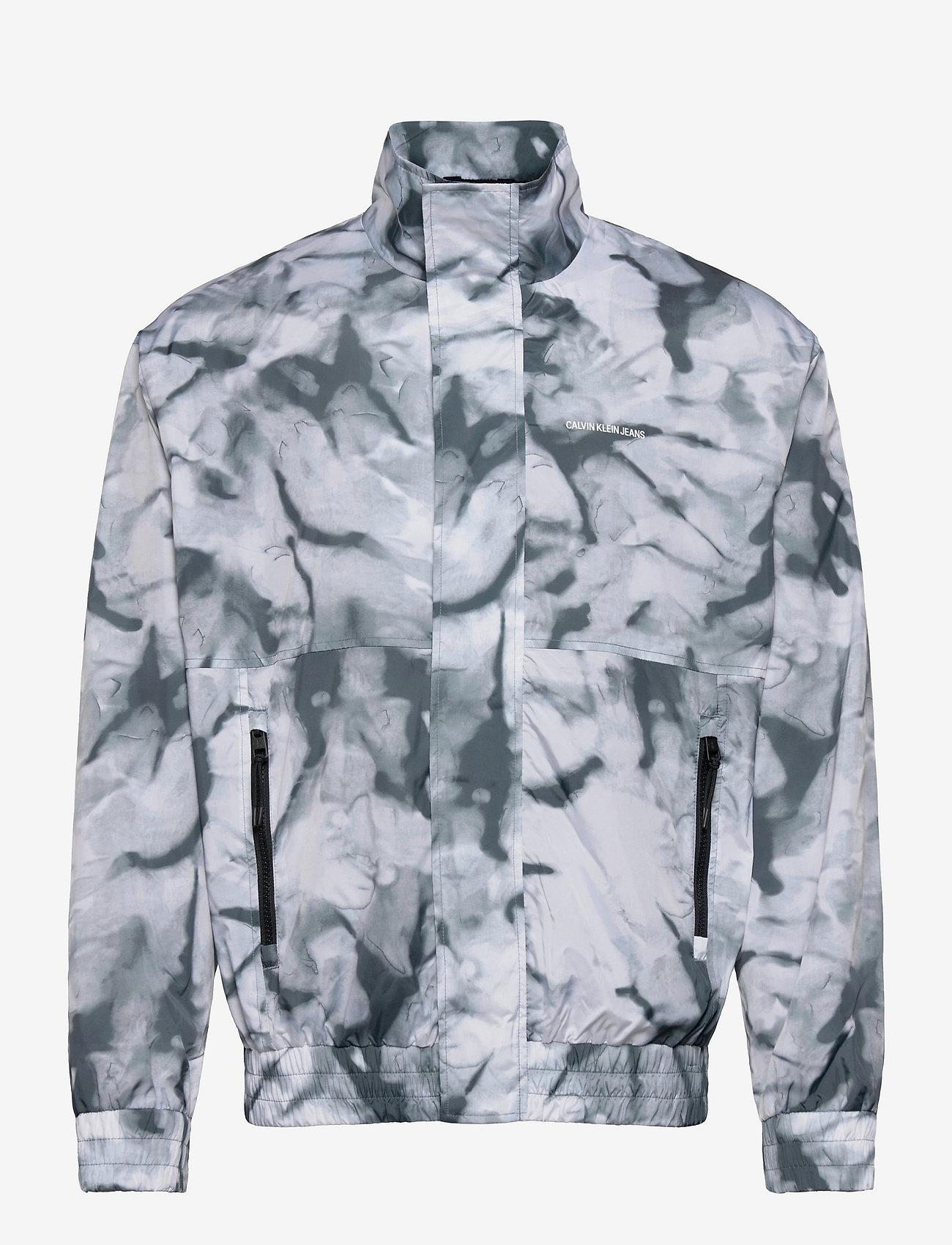 Calvin Klein Jeans - AOP ZIP THROUGH JACKET - kurtki bomber - quiet grey marble aop - 0