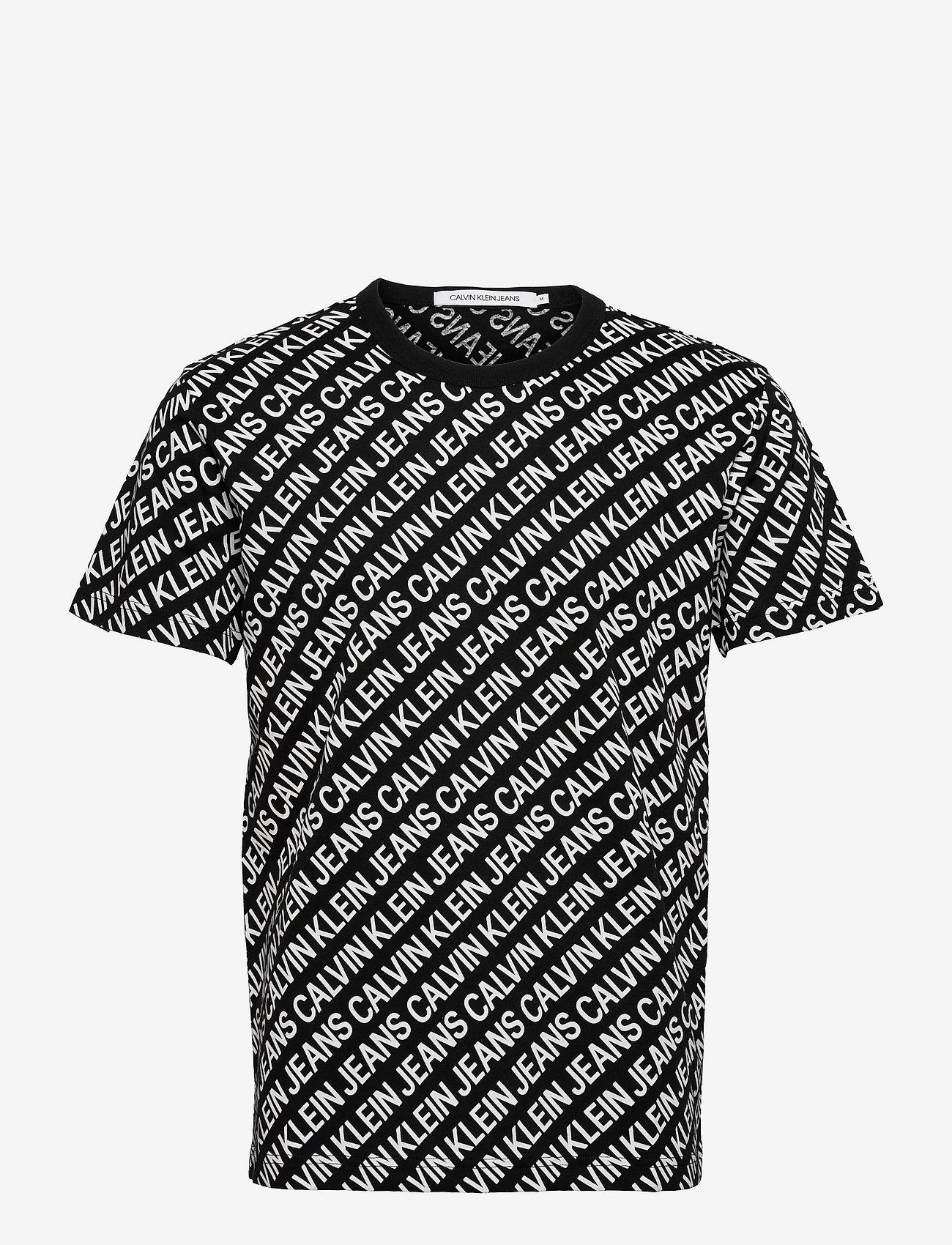 Calvin Klein Jeans - AOP DIAGONAL TEE - korte mouwen - ck black - 0