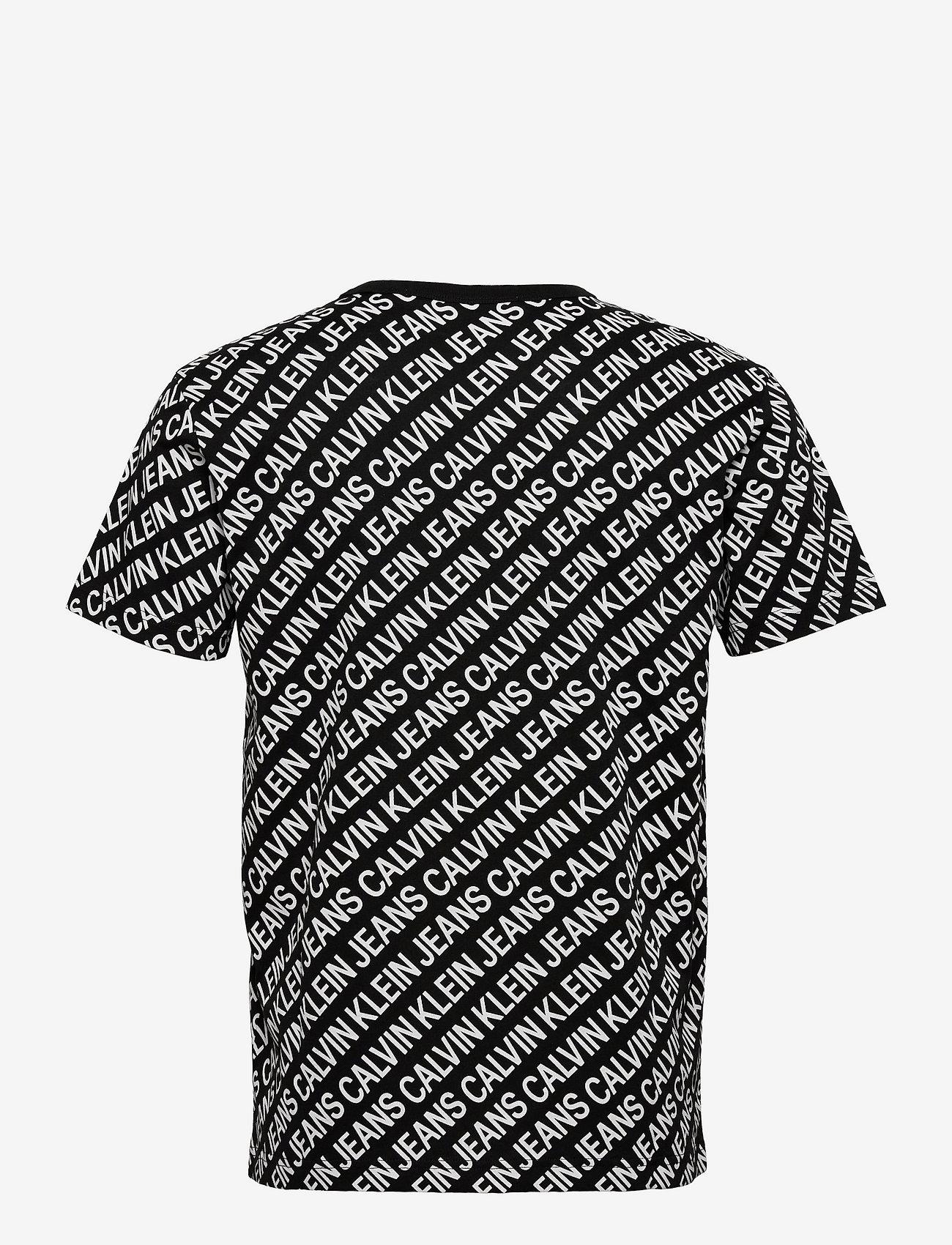 Calvin Klein Jeans - AOP DIAGONAL TEE - korte mouwen - ck black - 1