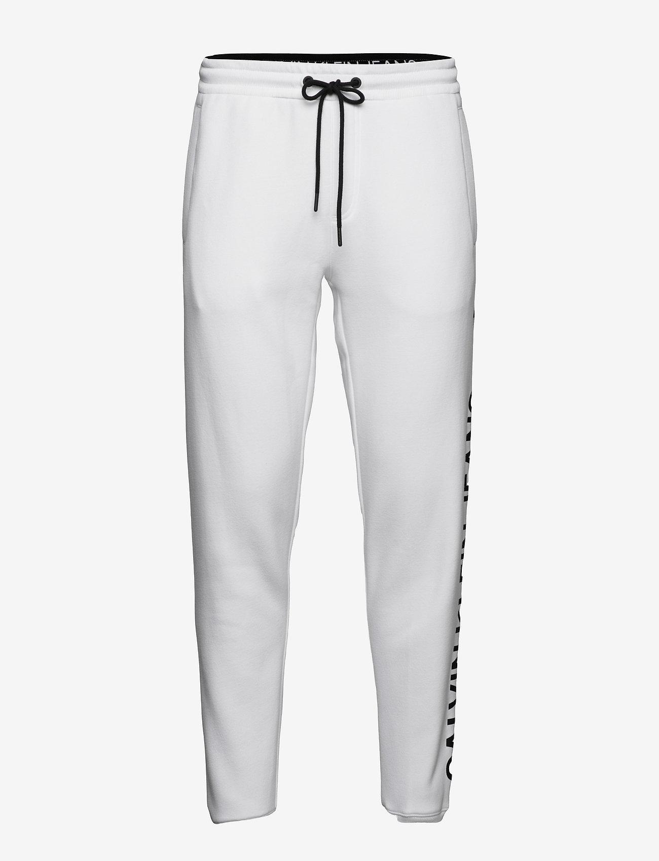 Calvin Klein Jeans - CK VERTICAL LOGO HWK PANT - kleding - bright white - 0