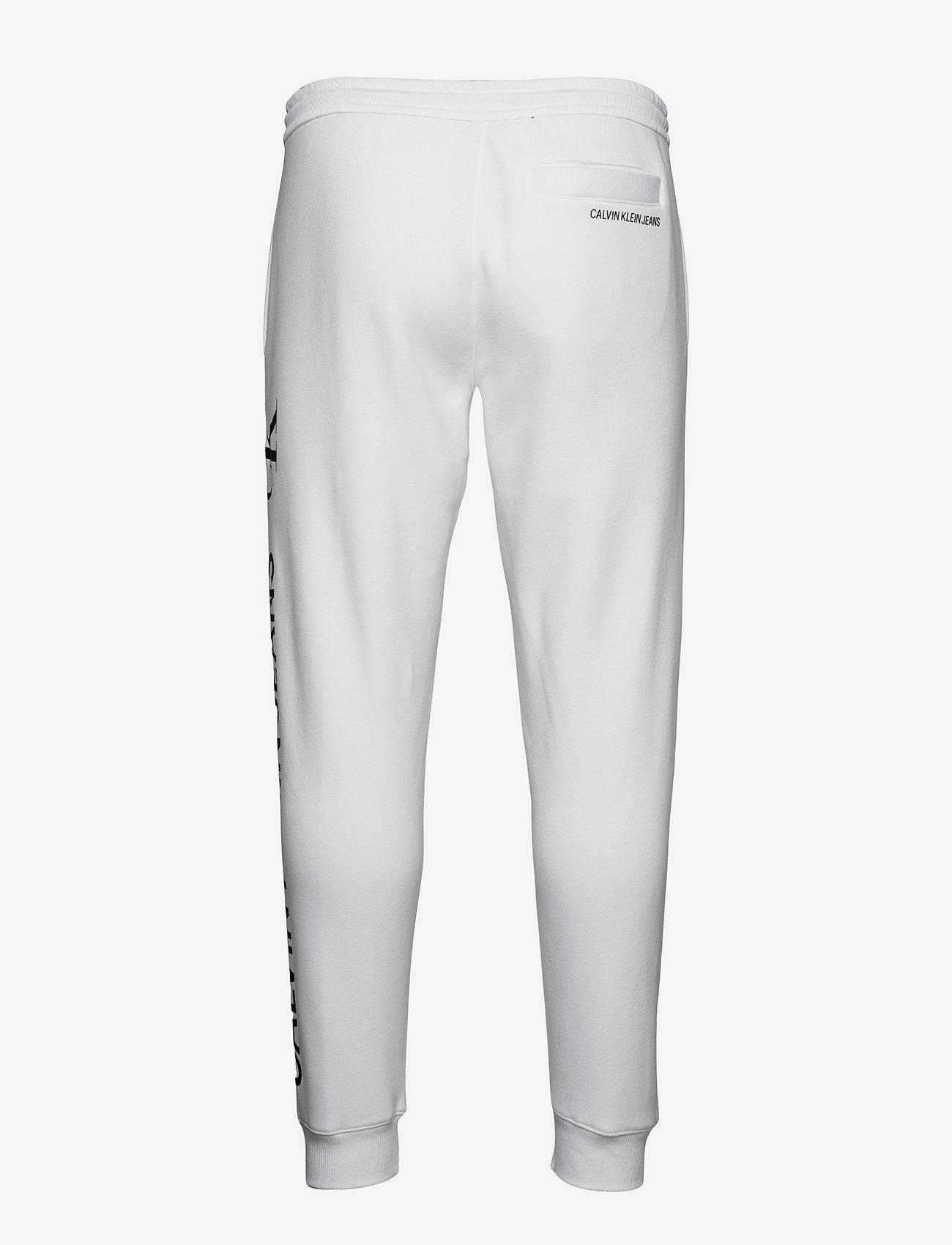 Calvin Klein Jeans - CK VERTICAL LOGO HWK PANT - kleding - bright white - 1