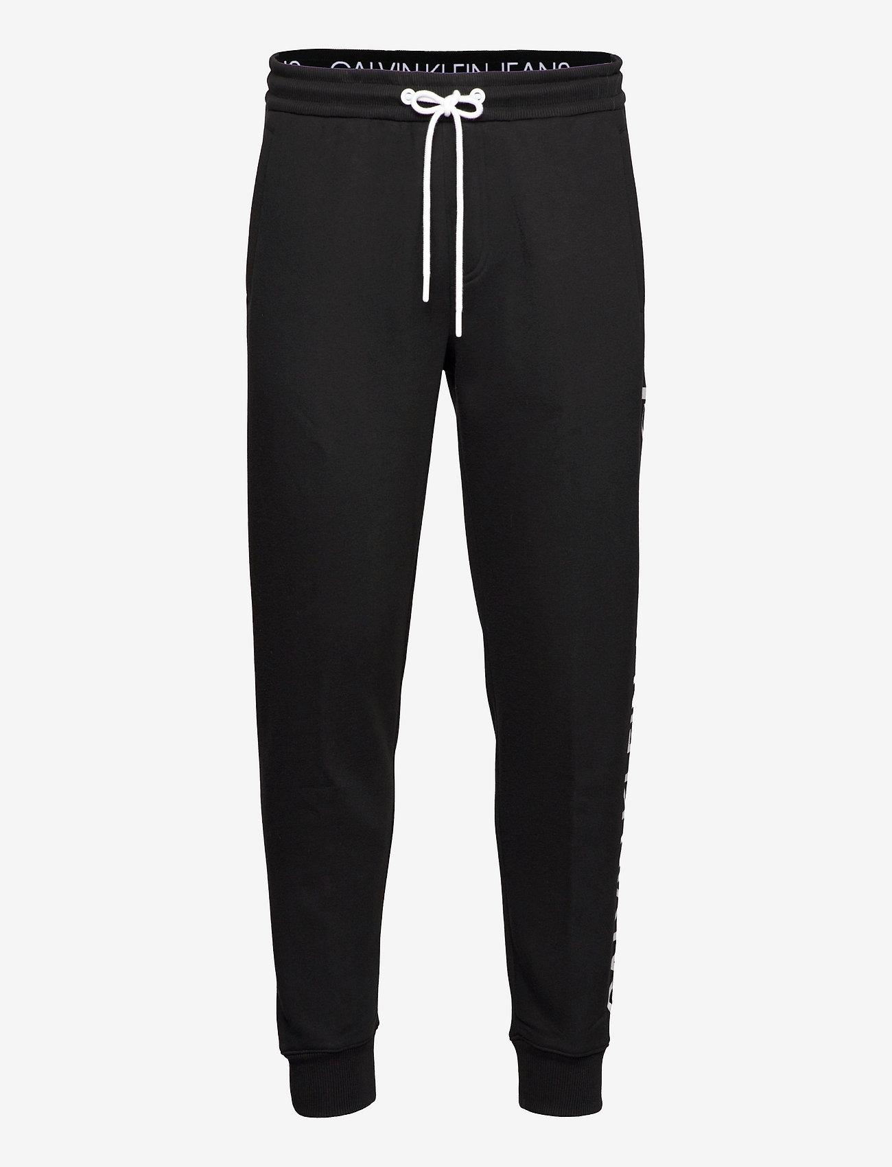 Calvin Klein Jeans - CK VERTICAL LOGO HWK PANT - vêtements - ck black - 0