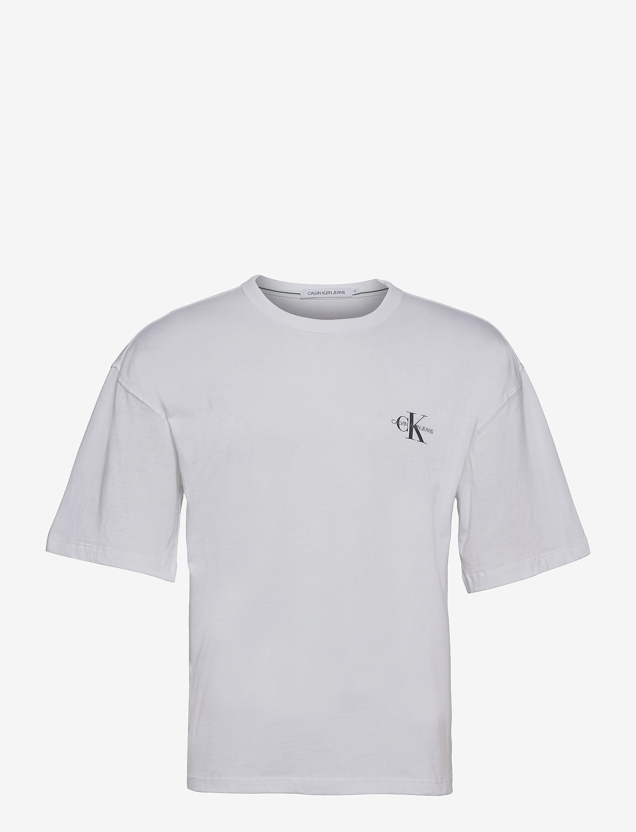 Calvin Klein Jeans - MONOGRAM MODERN RELAXED FIT TEE - t-shirts basiques - bright white - 0
