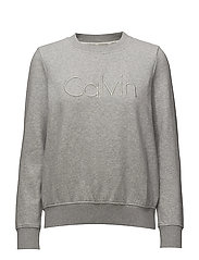 HONDI CALVIN CN HWK L/S - LIGHT GREY HEATHER