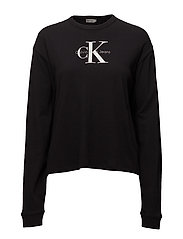 T-CORE LOOSE FIT LWK L/S TRUE ICON - CK BLACK