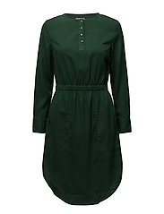 DARCY SHIRT DRESS LS - TREKKING GREEN