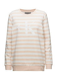 TRUE ICON CN HWK L/S STRIPE - CREAM TAN / EGRET