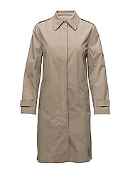OLMA CAR COAT - SILVER MINK