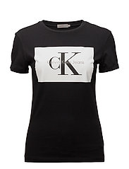TANYA-40 CN TEE - CK BLACK / BRIGHT WHITE