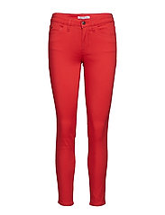 MID RISE SKINNY STRE - RACING RED