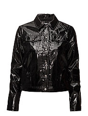 VINYL TRUCKER JACKET - CK BLACK